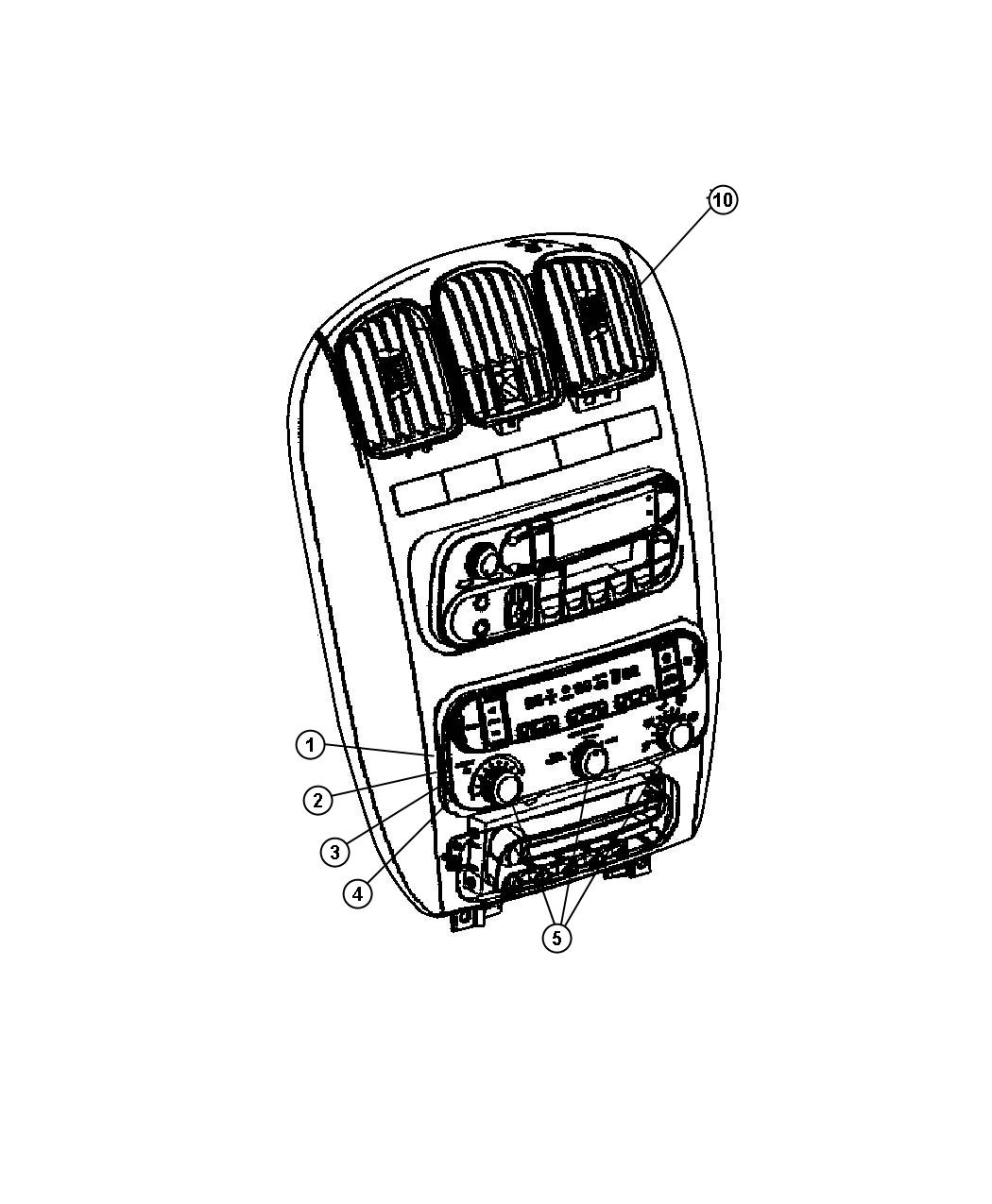 Chrysler Town  U0026 Country Control  Used For  A  C And Heater