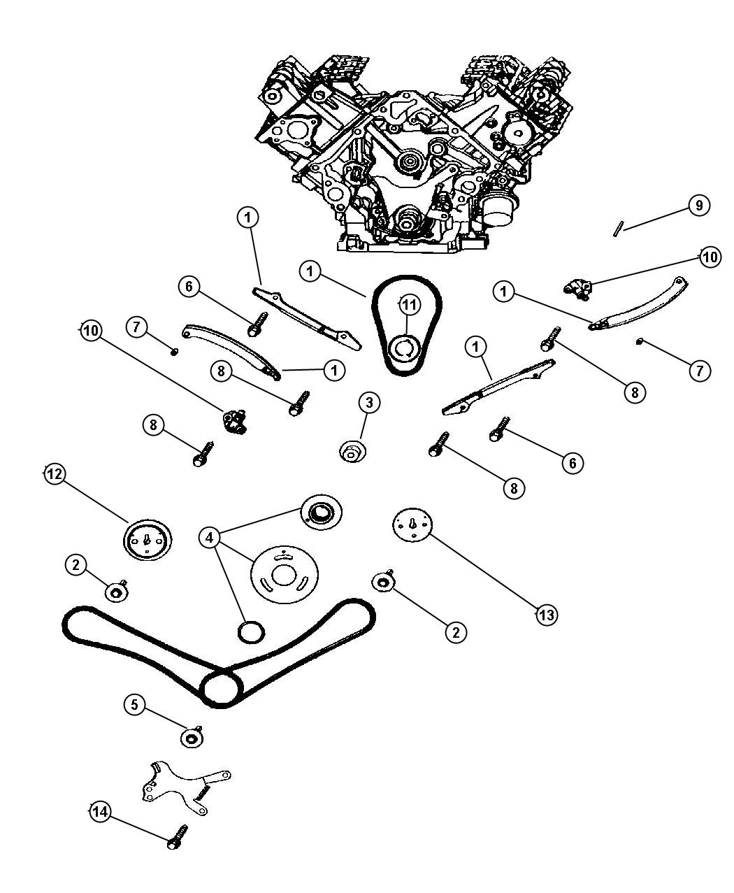 Timing Chain and Guides, 4.7 (EVA)