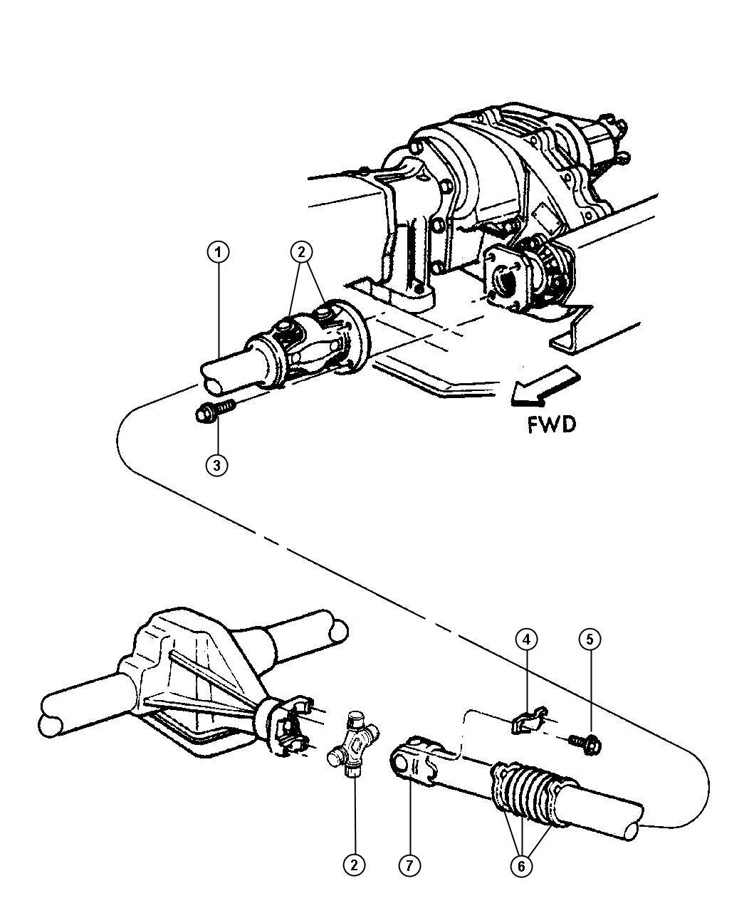 52105862ab dodge shaft drive front transfer case. Black Bedroom Furniture Sets. Home Design Ideas