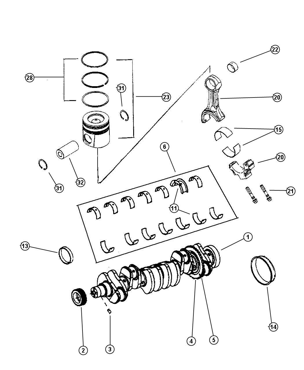Dodge Ram 2500 Ring  Piston Pin