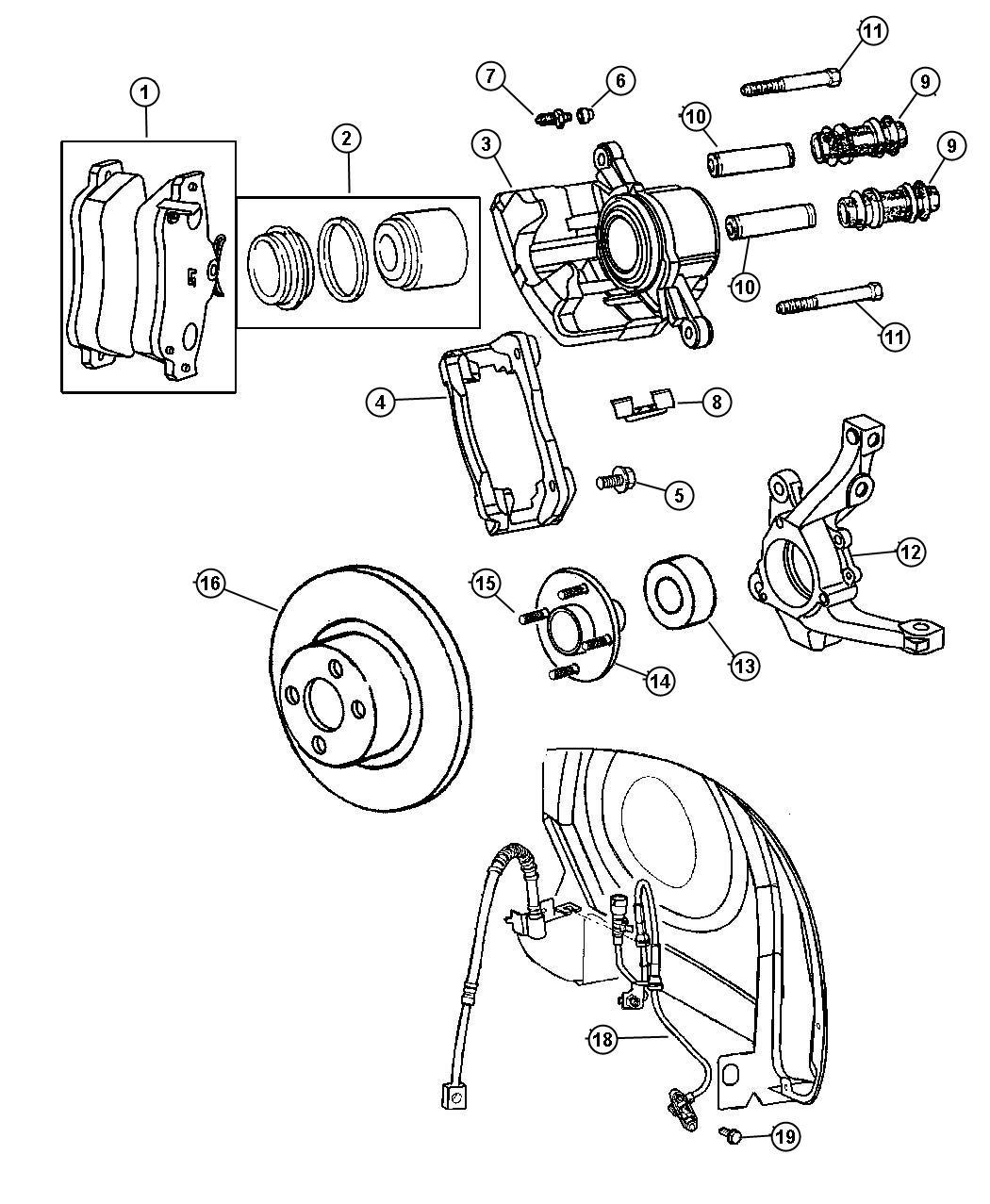 Dodge Neon Hub  Wheel  Discpower  Drumpower