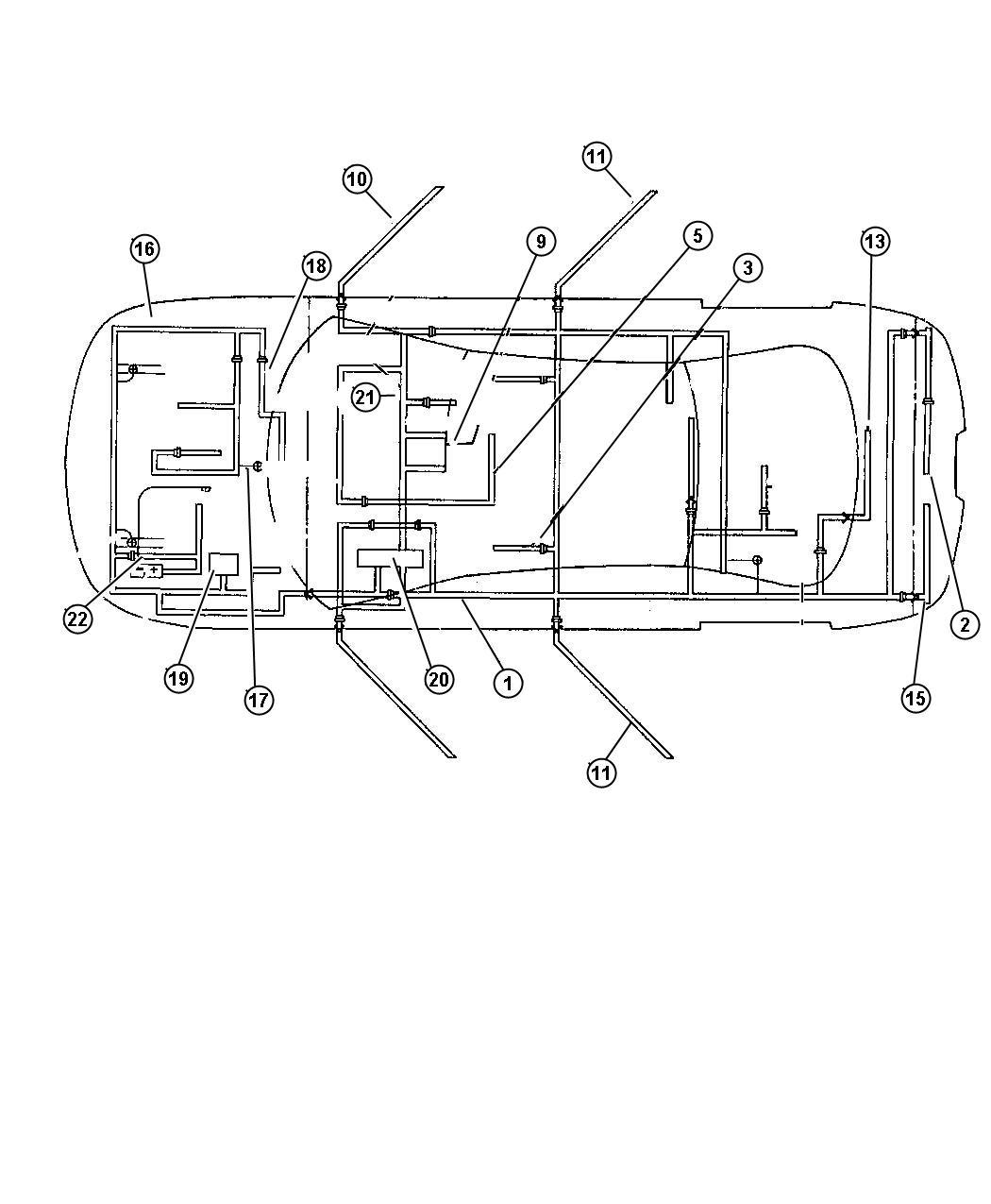 Chrysler Concorde Wiring  Body Left  With 360 Watt Amp
