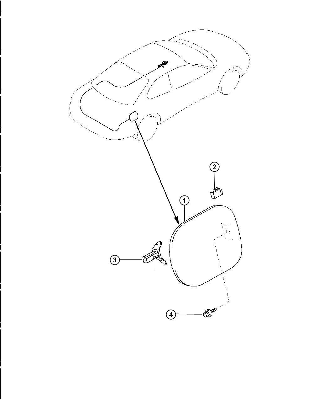 Dodge Avenger Door  Fuel Fill  Fuel Filler