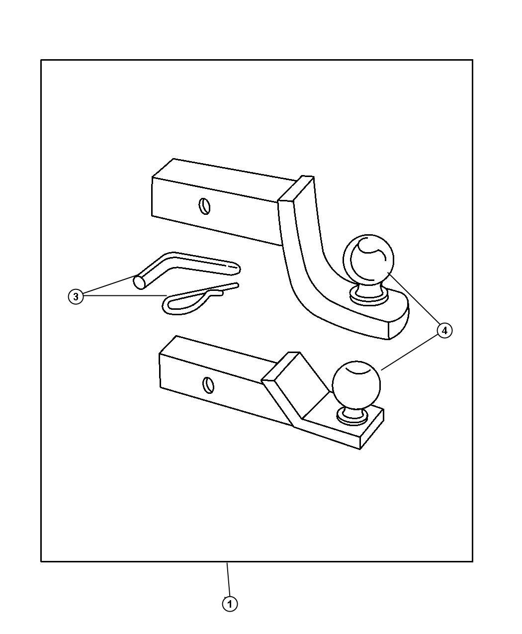 Adapter Kit - Ball Mount. Diagram