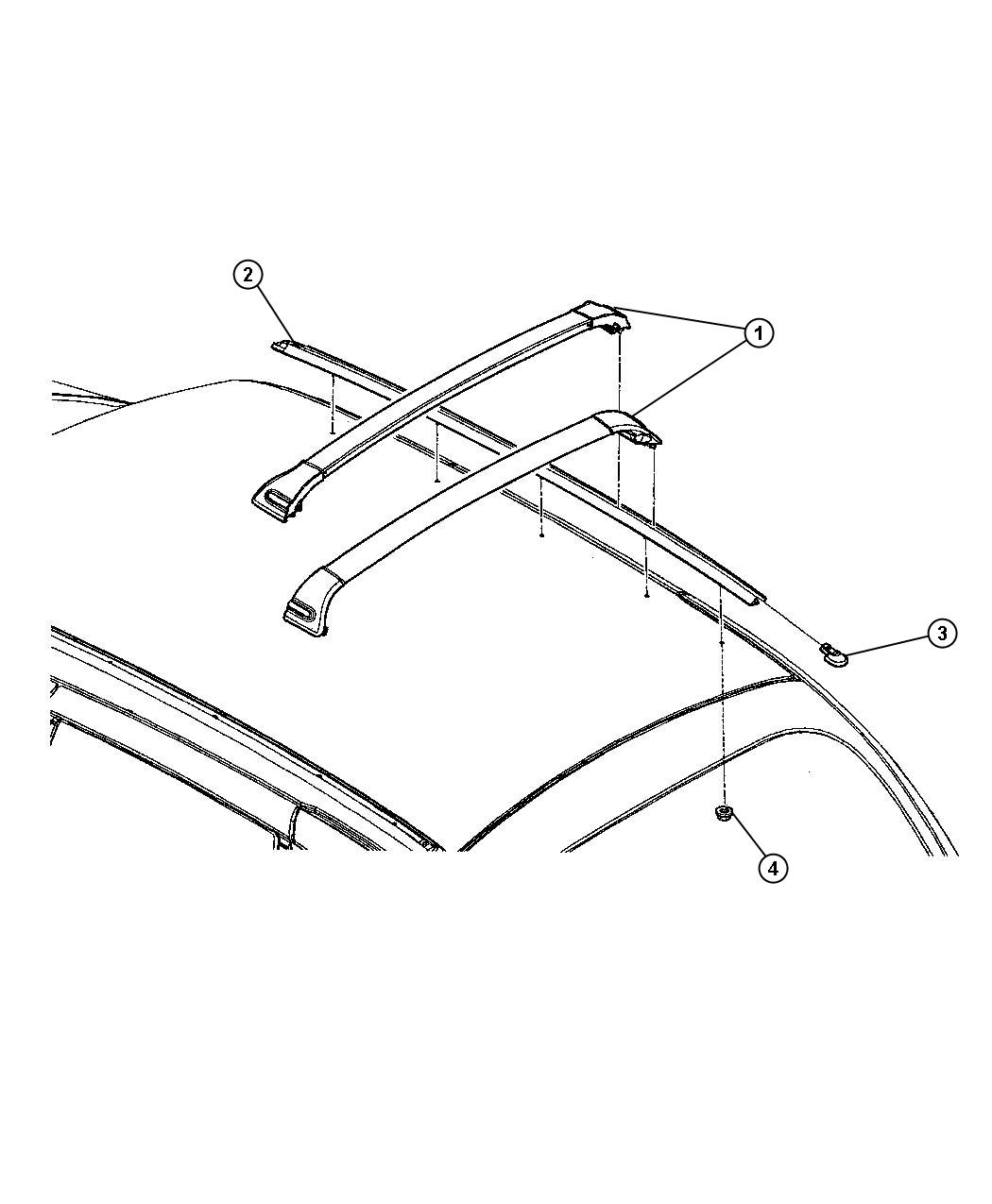 Chrysler Pt Cruiser Rail  Luggage Rack Side  Left  Use Up To 12-3-02