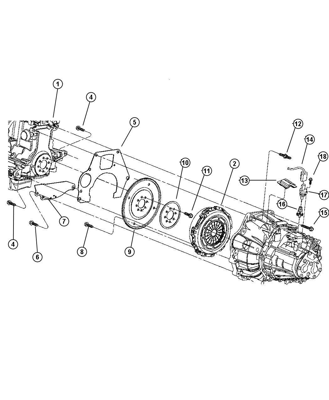 Dodge Stratus Stud  Mounting  Oil Pan