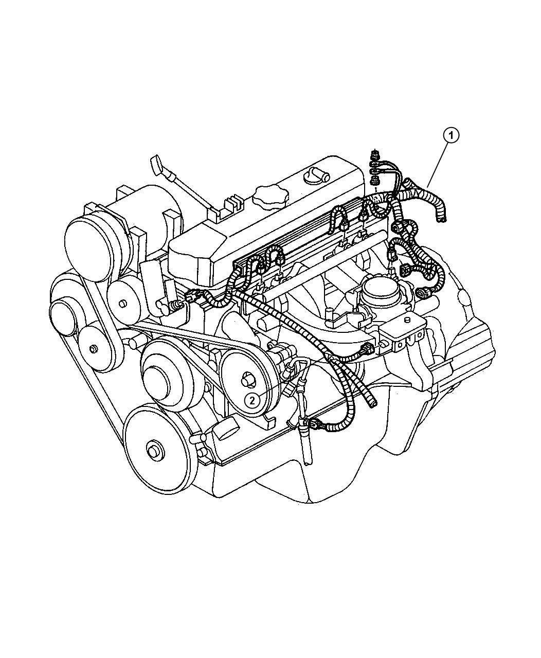 Dodge Dakota Wiring  Engine  Califonia Includes Negative