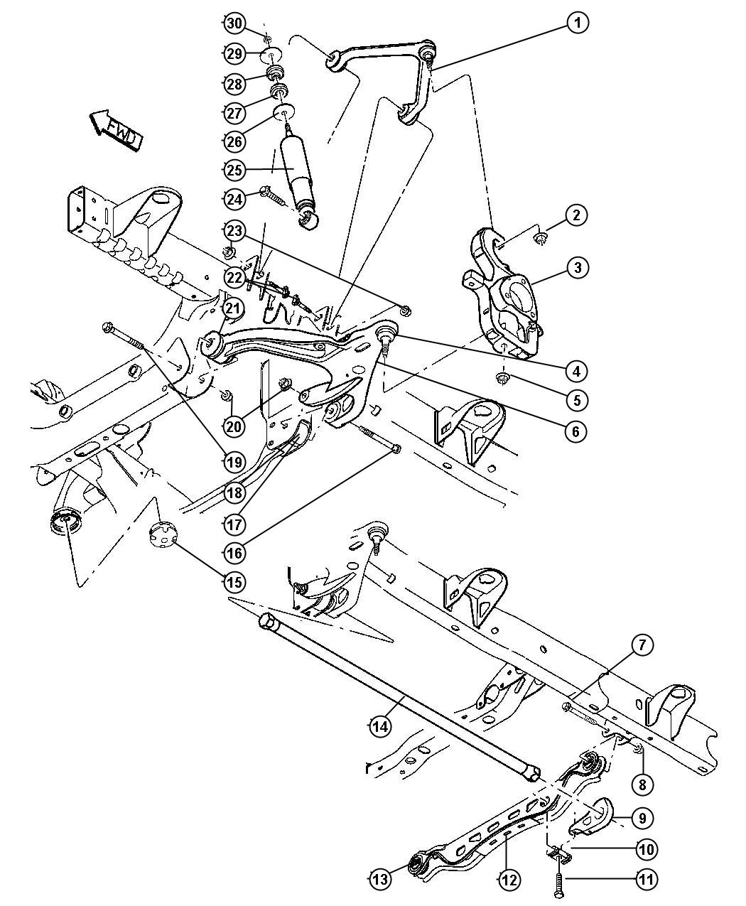 Dodge Ram 1500 Crossmember  Front Suspension  With Bushings