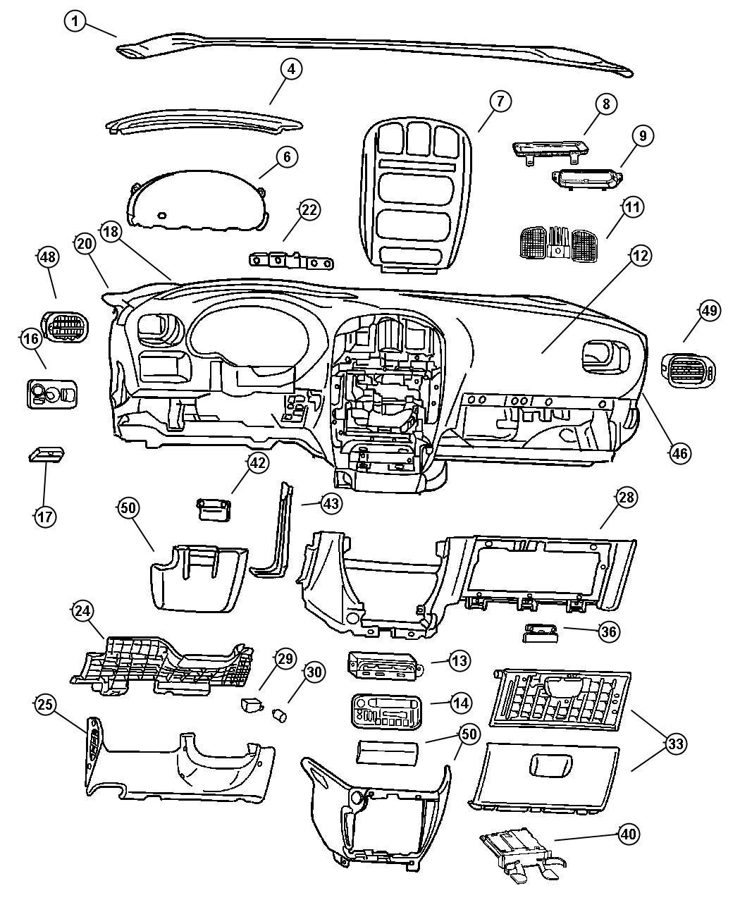 Dodge Grand Caravan Module  Message Center   Ql   Trim    O0  Color   -ql