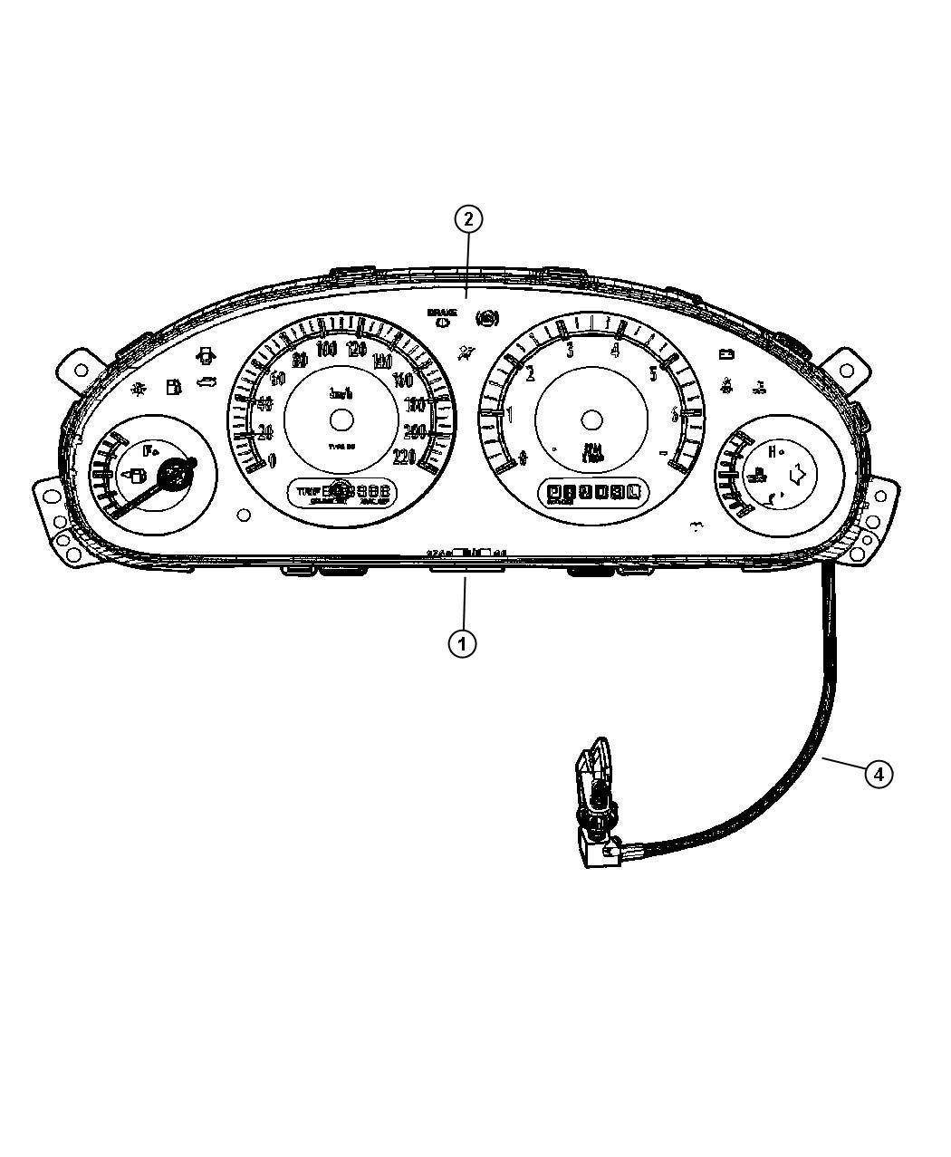 Dodge Grand Caravan Cluster  Instrument Panel