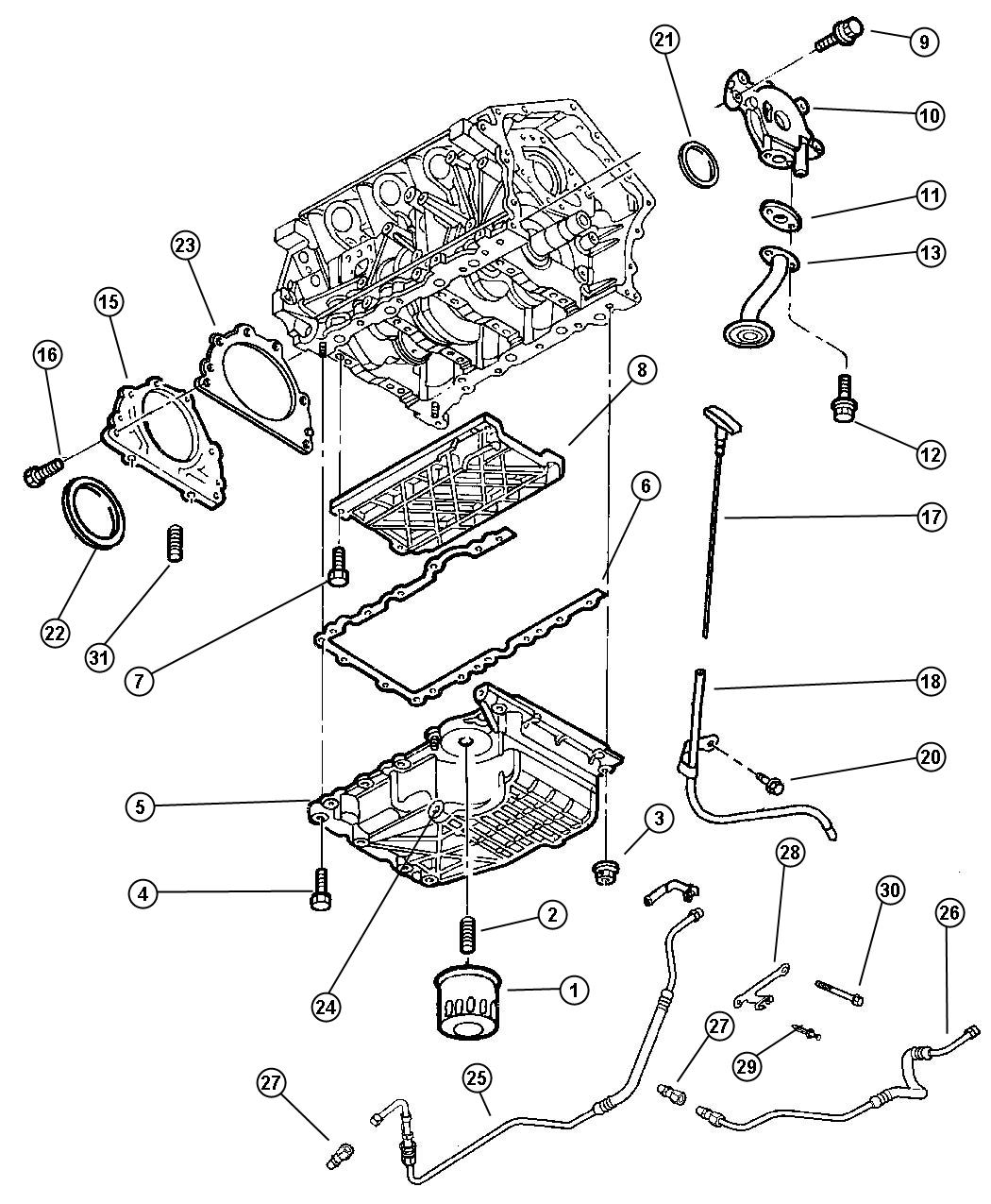 Dodge Intrepid Gasket  Rear Oil Seal Retainer