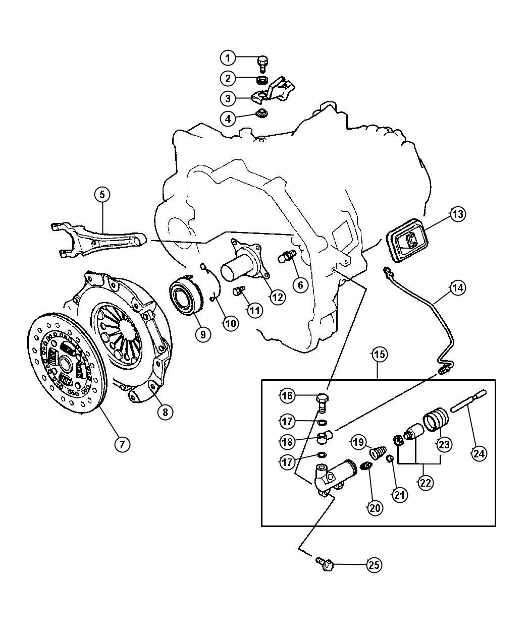 Jeep 4 Cylinder Engines Clutch Diagrams