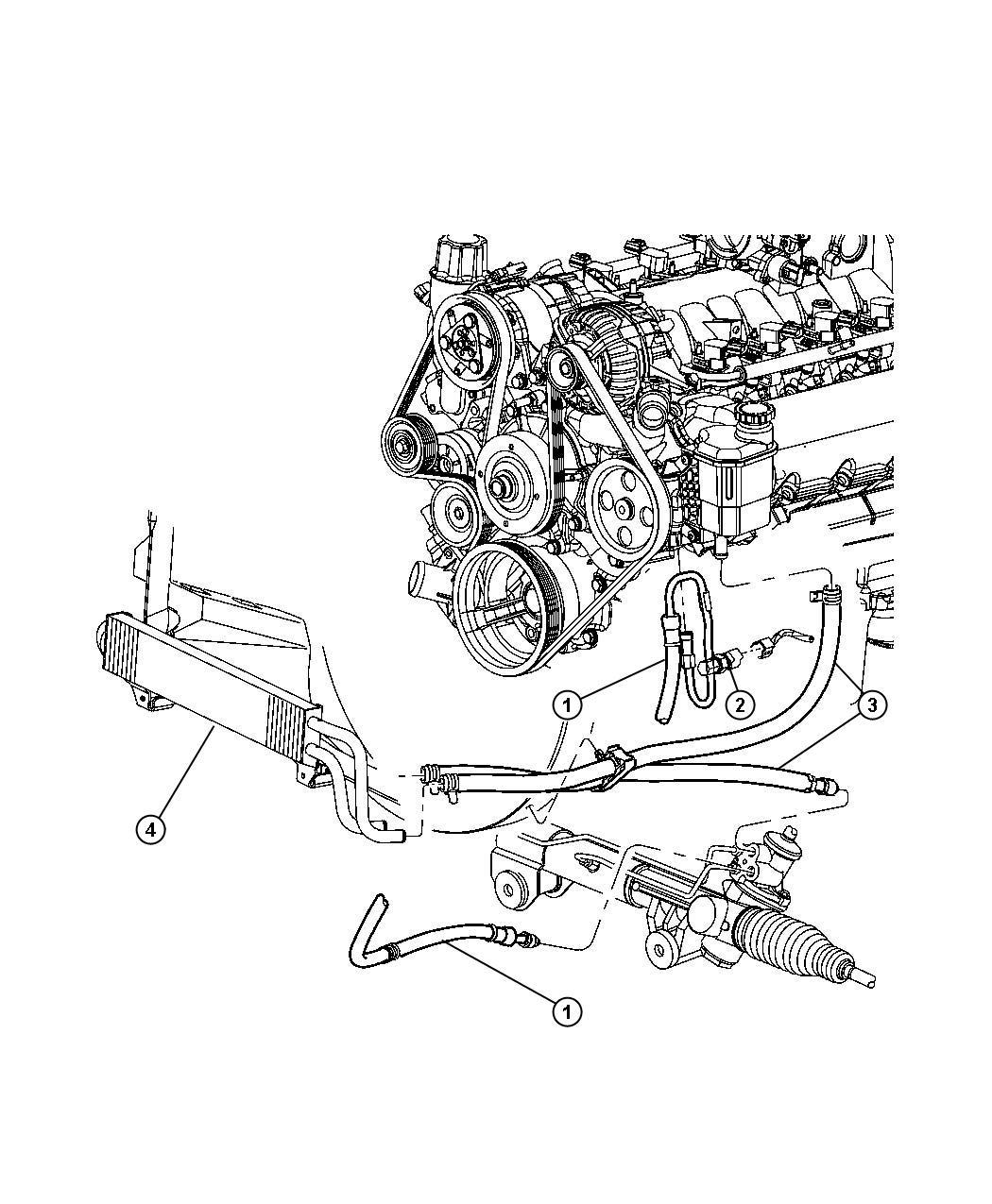 Dodge Dakota Switch  Power Steering  Power Steering Pressure   Steering