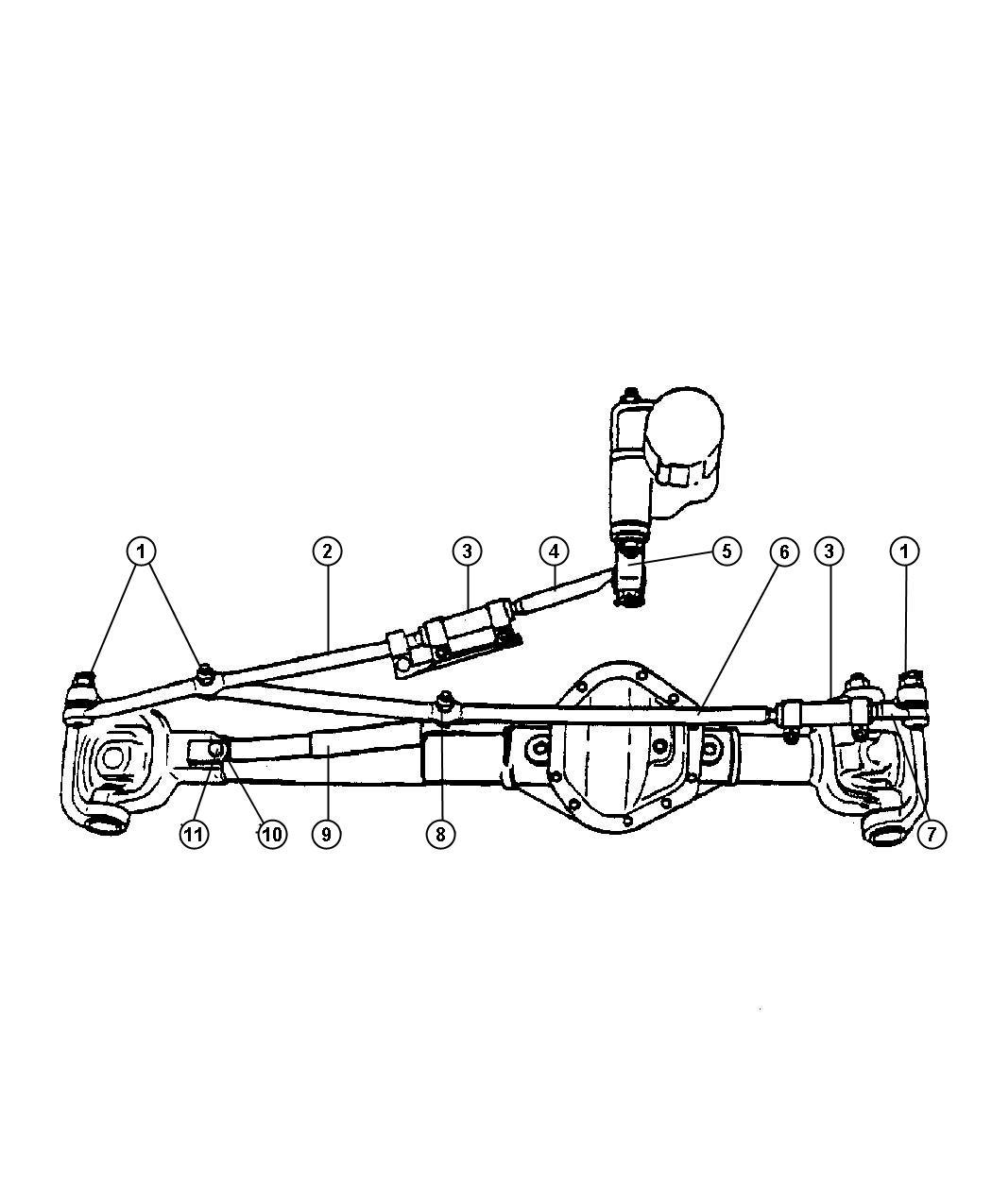 2001 Dodge Ram 1500 Damper  Steering