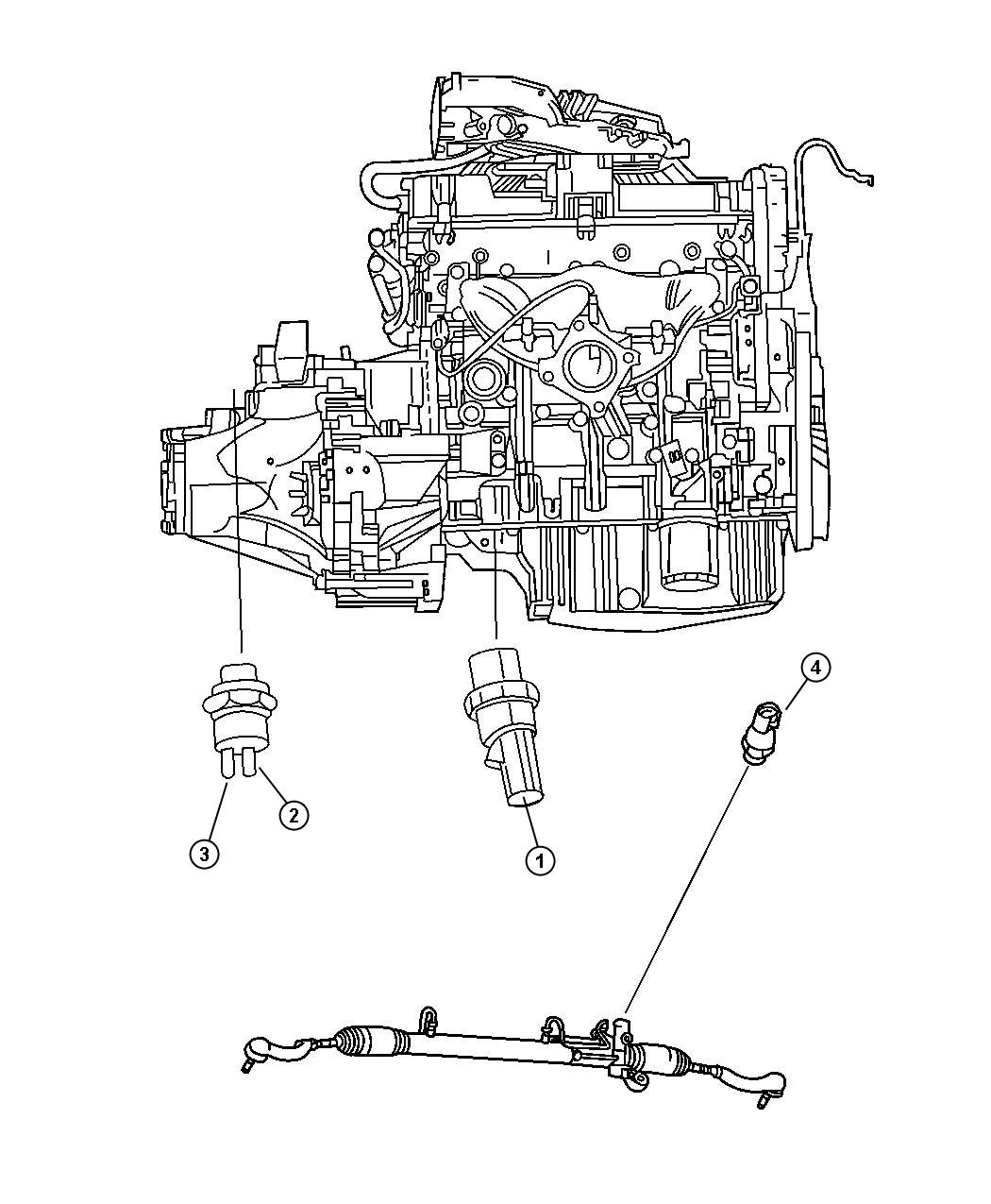 Plymouth Grand Voyager Sending Unit  Switch  Oil Pressure