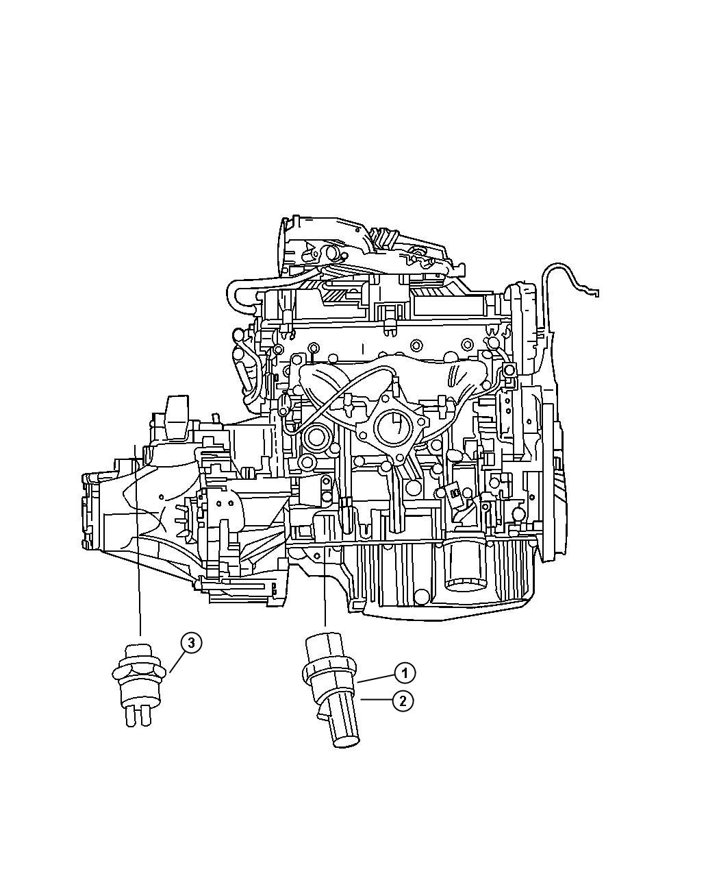 2005 Dodge Sending Unit  Switch  Oil Pressure  Drivetrain