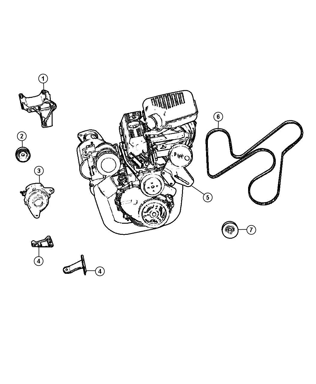 Diagram Alternator and Mounting 2.5L Engine. for your 1988