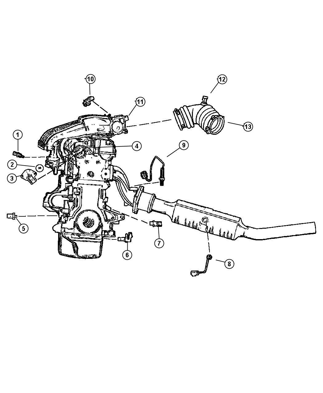 Plymouth Breeze Sensor  Throttle Position  Turboengine