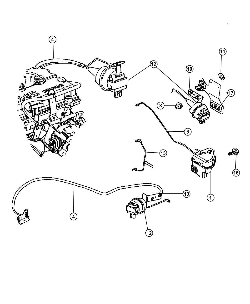 Dodge Stratus Harness  Speed Control Vacuum