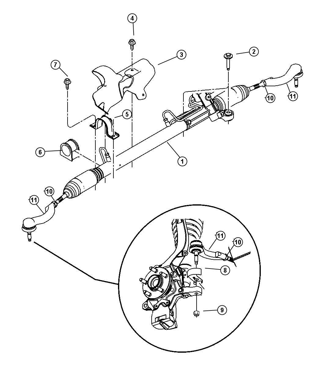 Chrysler Sebring Gear  Power Steering