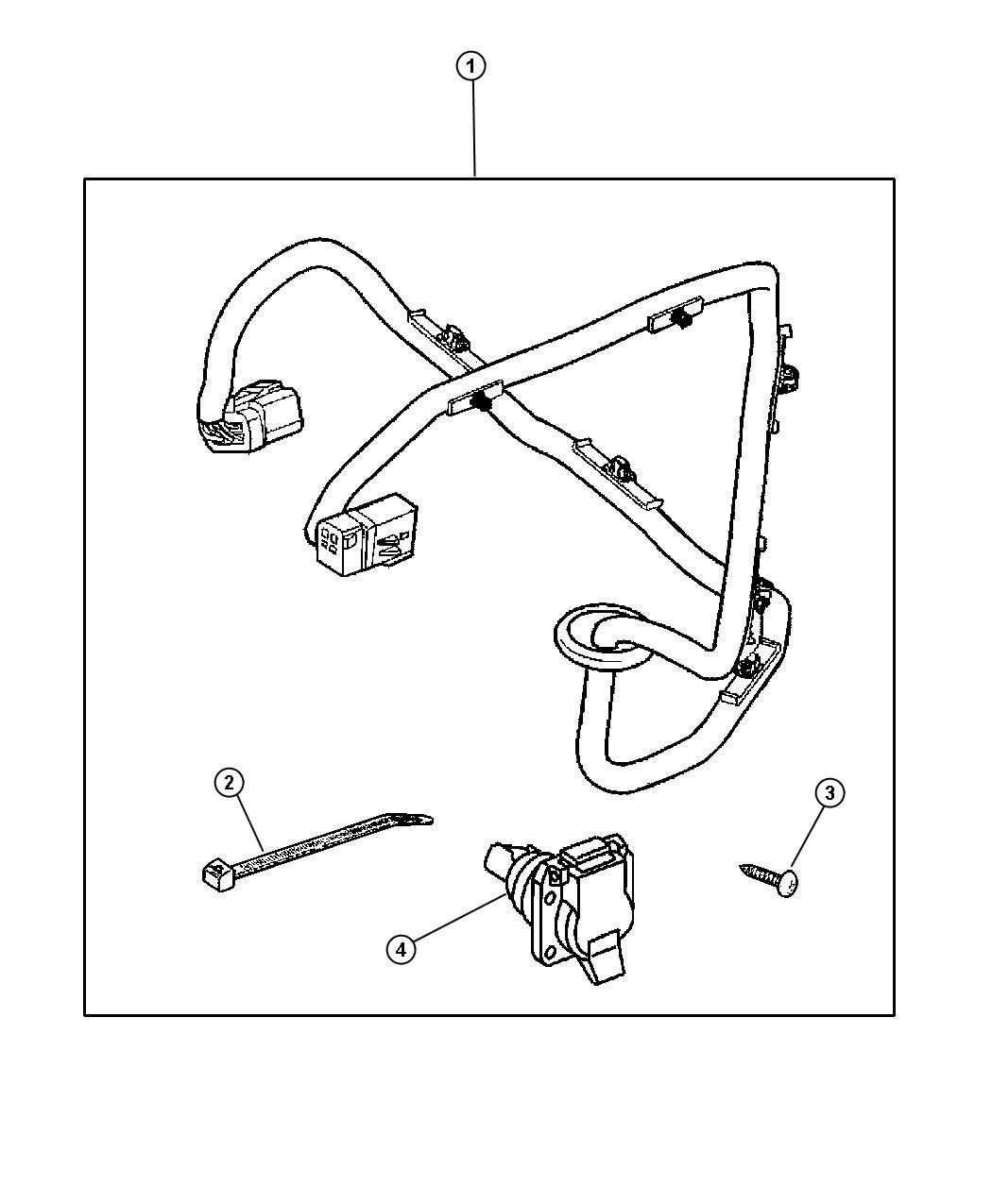82204724ab - mopar wiring kit  trailer tow