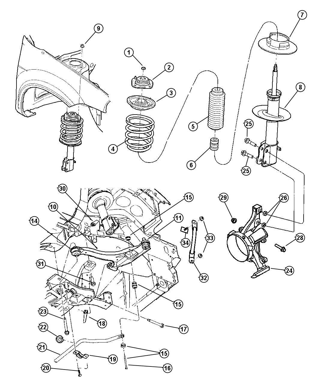 05272505aa - Cushion  Sway Eliminator   Suspension