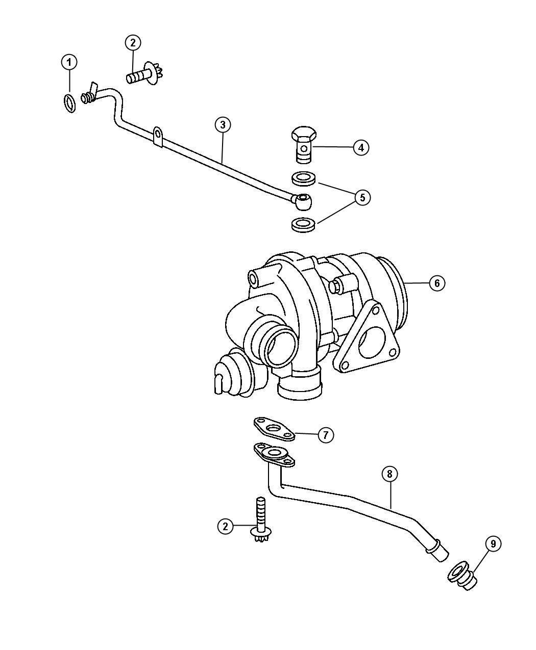 Chrysler Pt Cruiser Hose  Intercooler Outlet  Includes