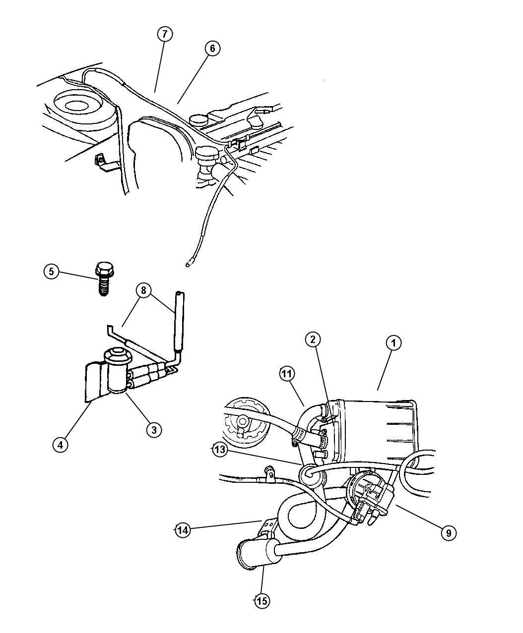 Plymouth Breeze Harness  Leak Detection Pump
