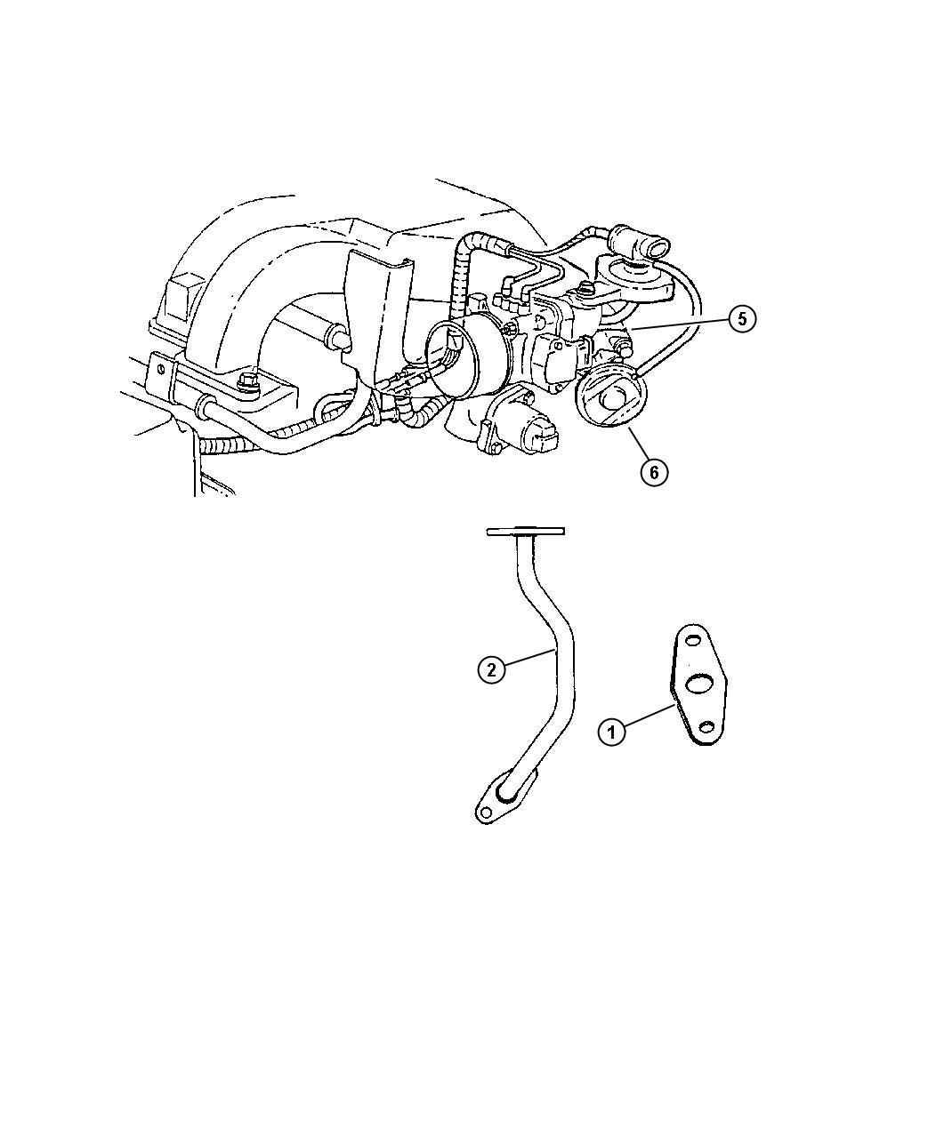 Plymouth Voyager Gasket  Egr Tube Flange   2 7l V6 Dohc 24