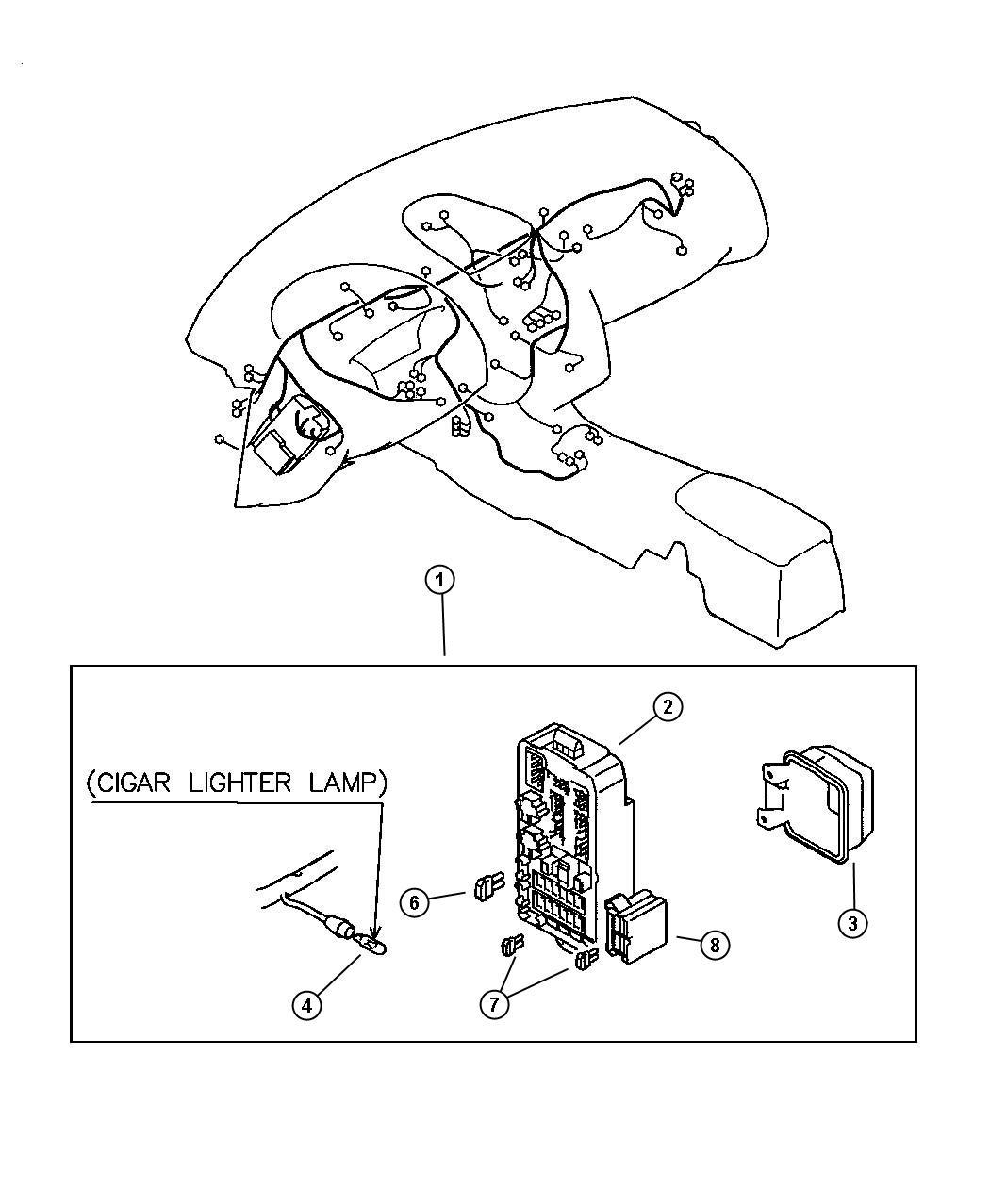 Dodge Stratus Block  Chassis Harness