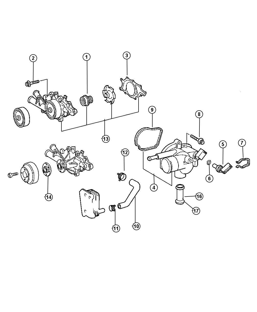 Chrysler Crossfire Seal  Impeller