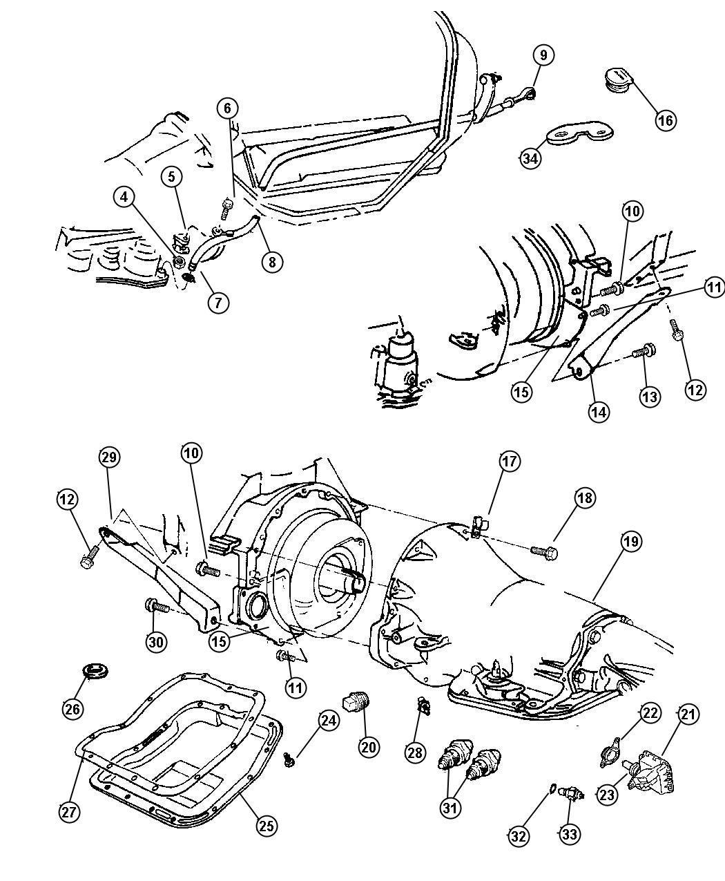 Dodge Ram 1500 Overhaul package. Transmission - 68330463AB ...