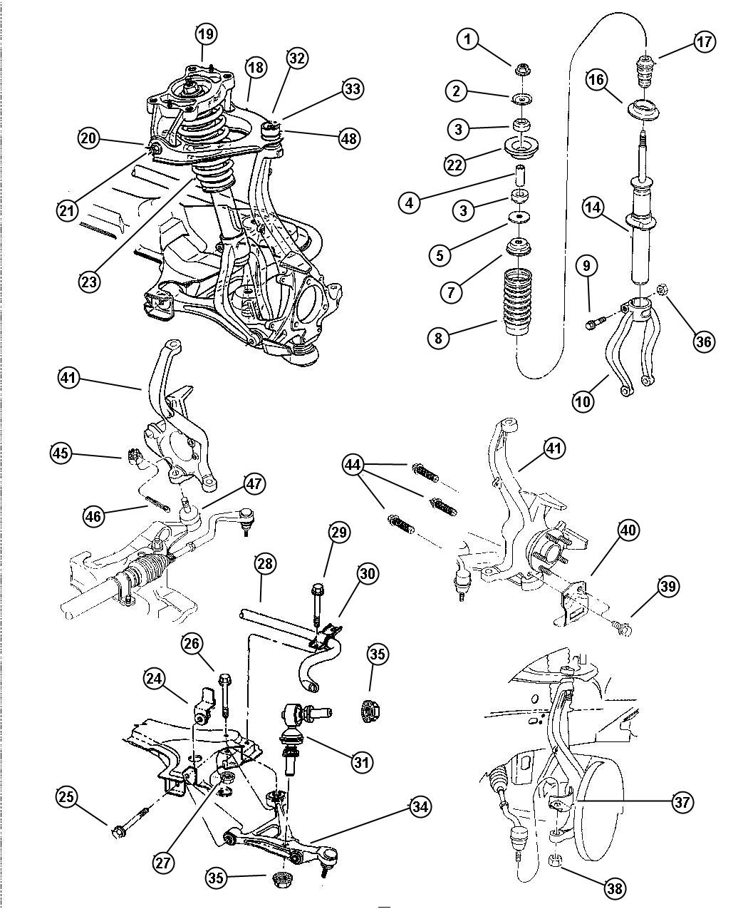 Dodge Stratus Bushing  Lower Control Arm  Lca Pivot  Pivot