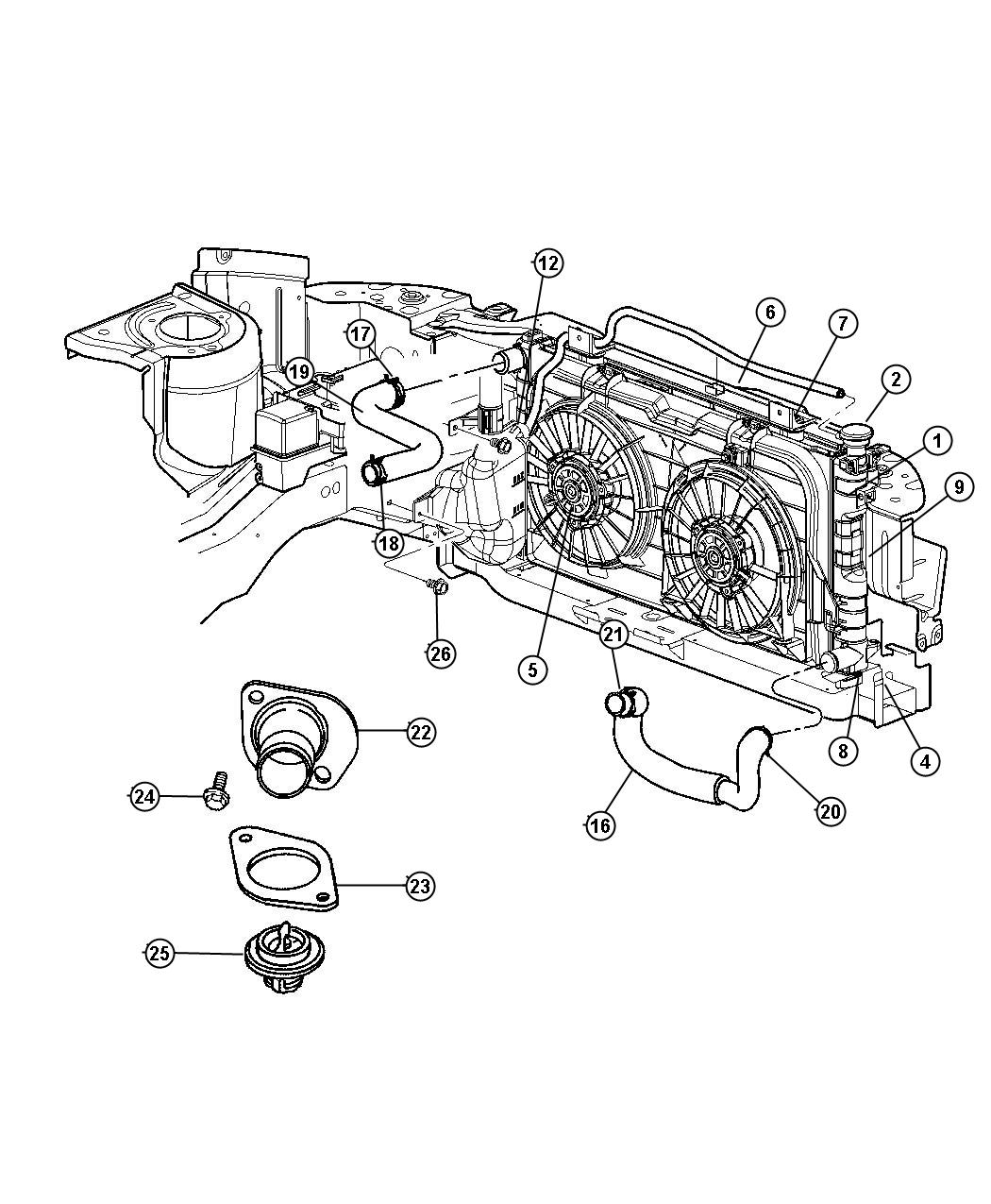 2001 Chrysler Town  U0026 Country Condenser  Air Conditioning