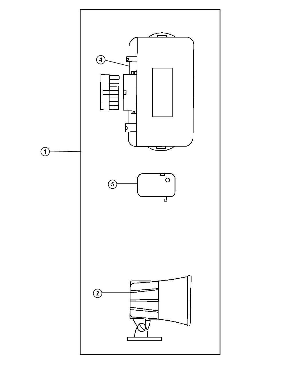 Dodge Intrepid Module  Security Alarm