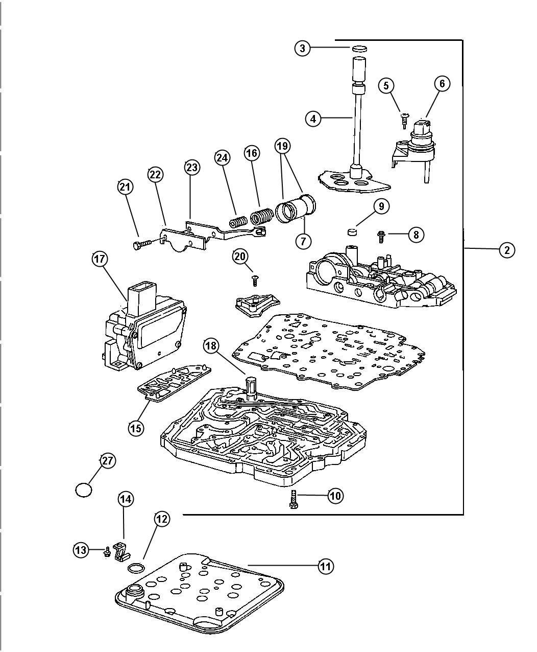 dodge intrepid parts diagram trans