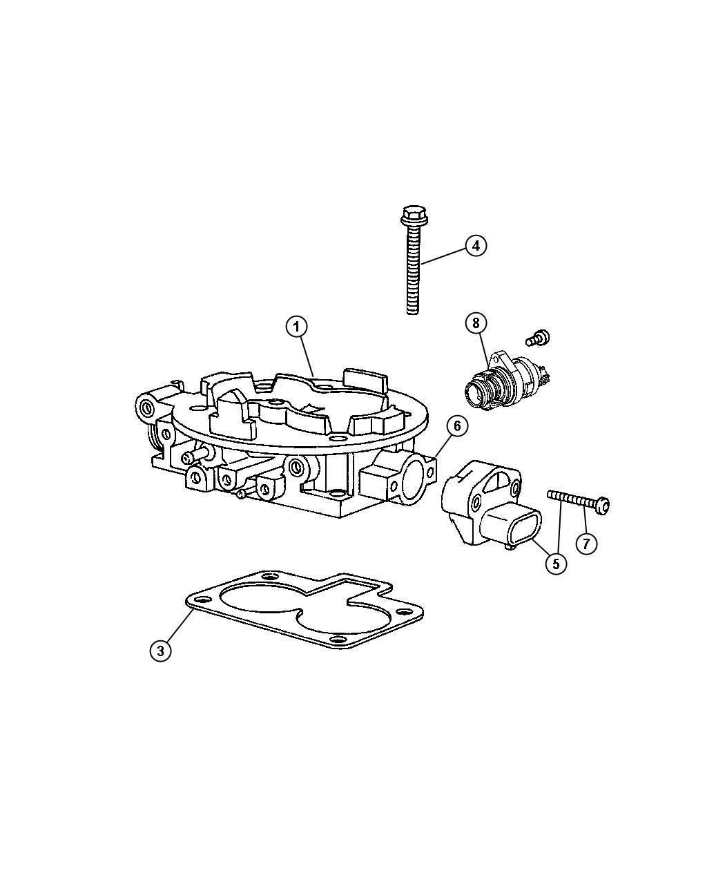 05114397AA  Jeep    Throttle       body      Mopar Parts Overstock