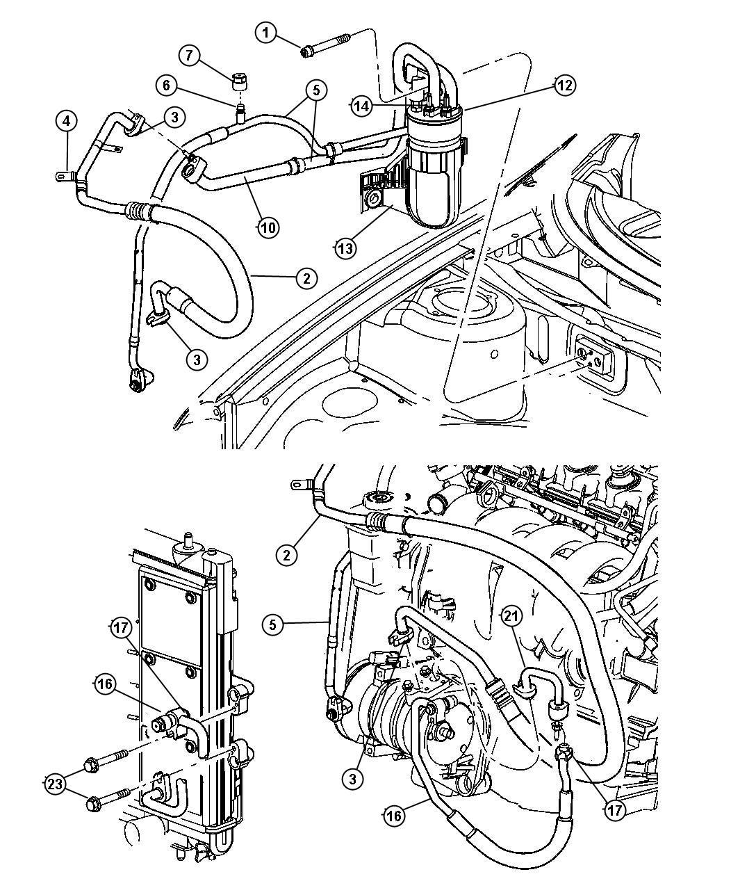 Dodge Neon Line  A  C Suction  Manual Transmission