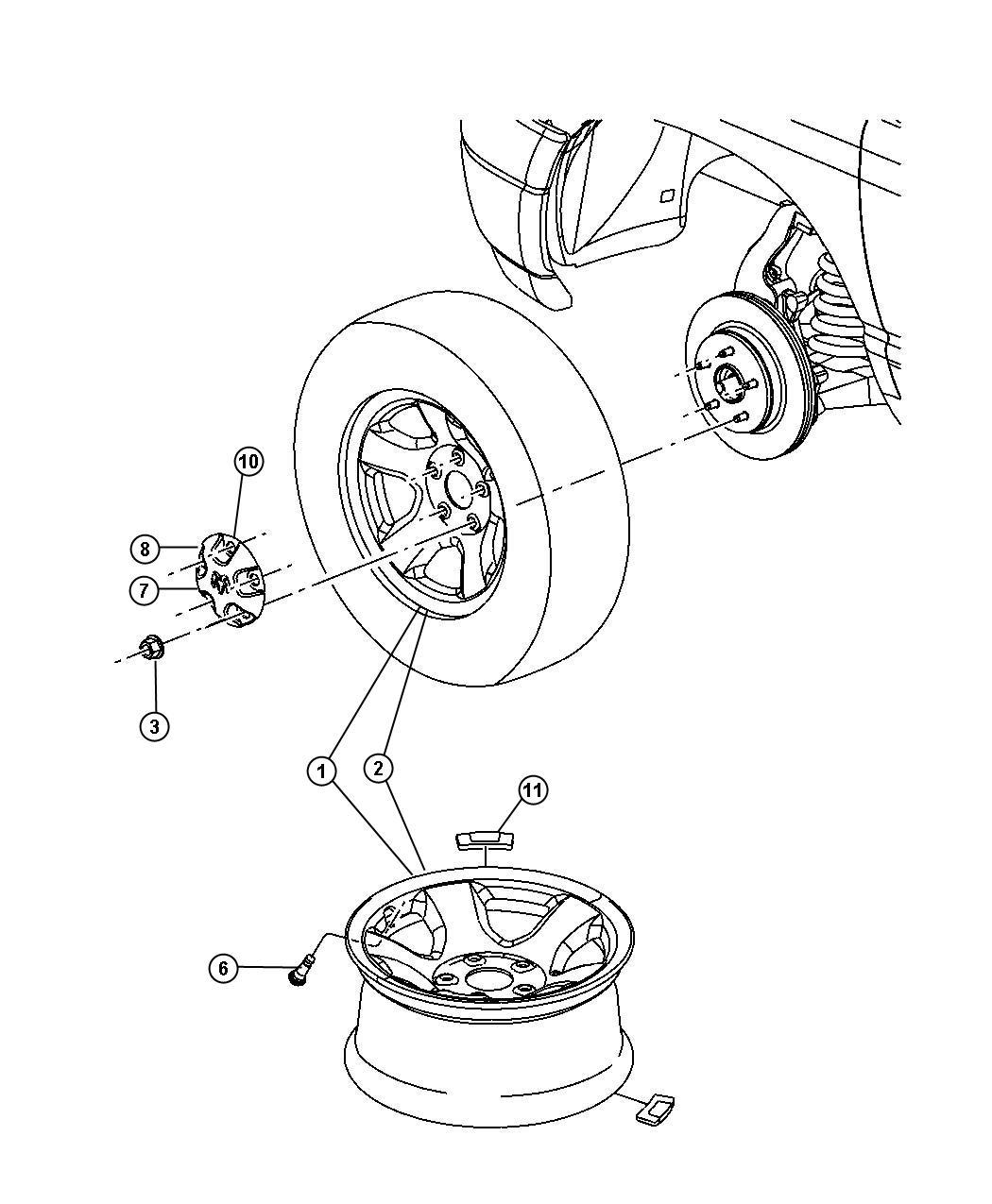 2004 dodge cover  rear  wheel  skinscenter  wmj  wmg