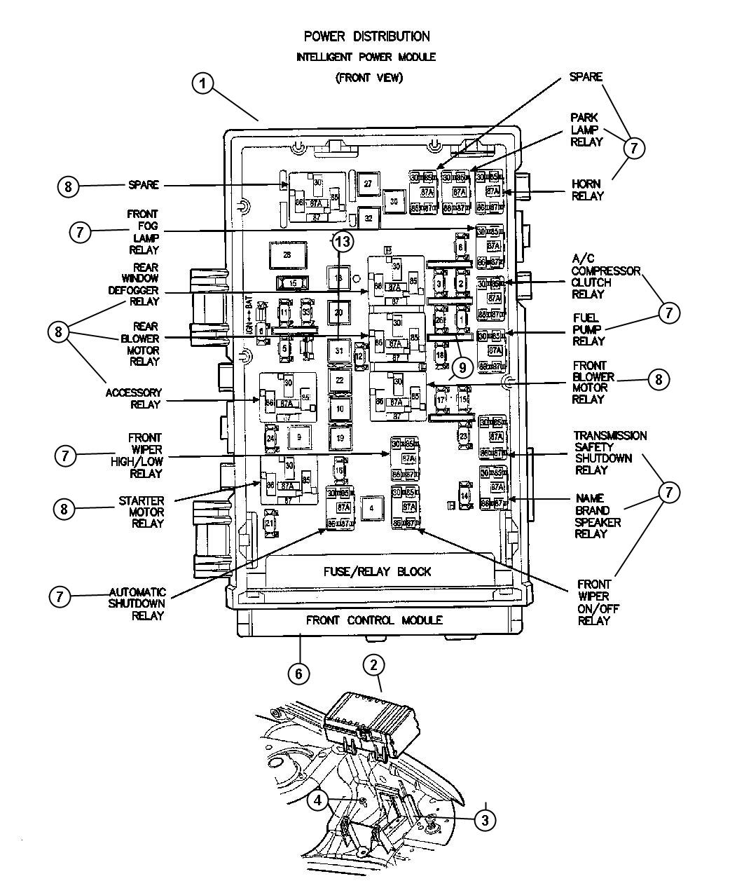 05102969ab - mopar power distribution center. infinityfog ... king dome rv satellite wiring diagrams rv refrigeration wiring diagrams #14