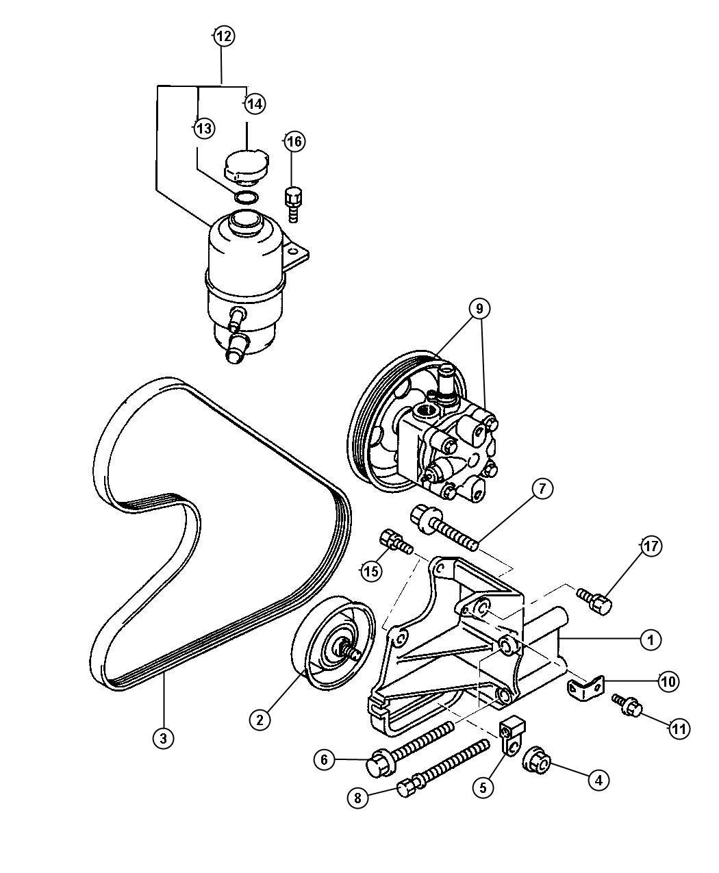 2004 Dodge Stratus Sxt 2 4l 4 Cyl A  T Belt  Power Steering