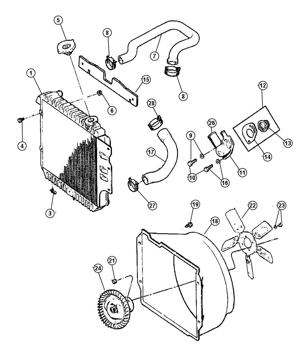 55037694ab mopar fan fan module cooling radiator. Black Bedroom Furniture Sets. Home Design Ideas