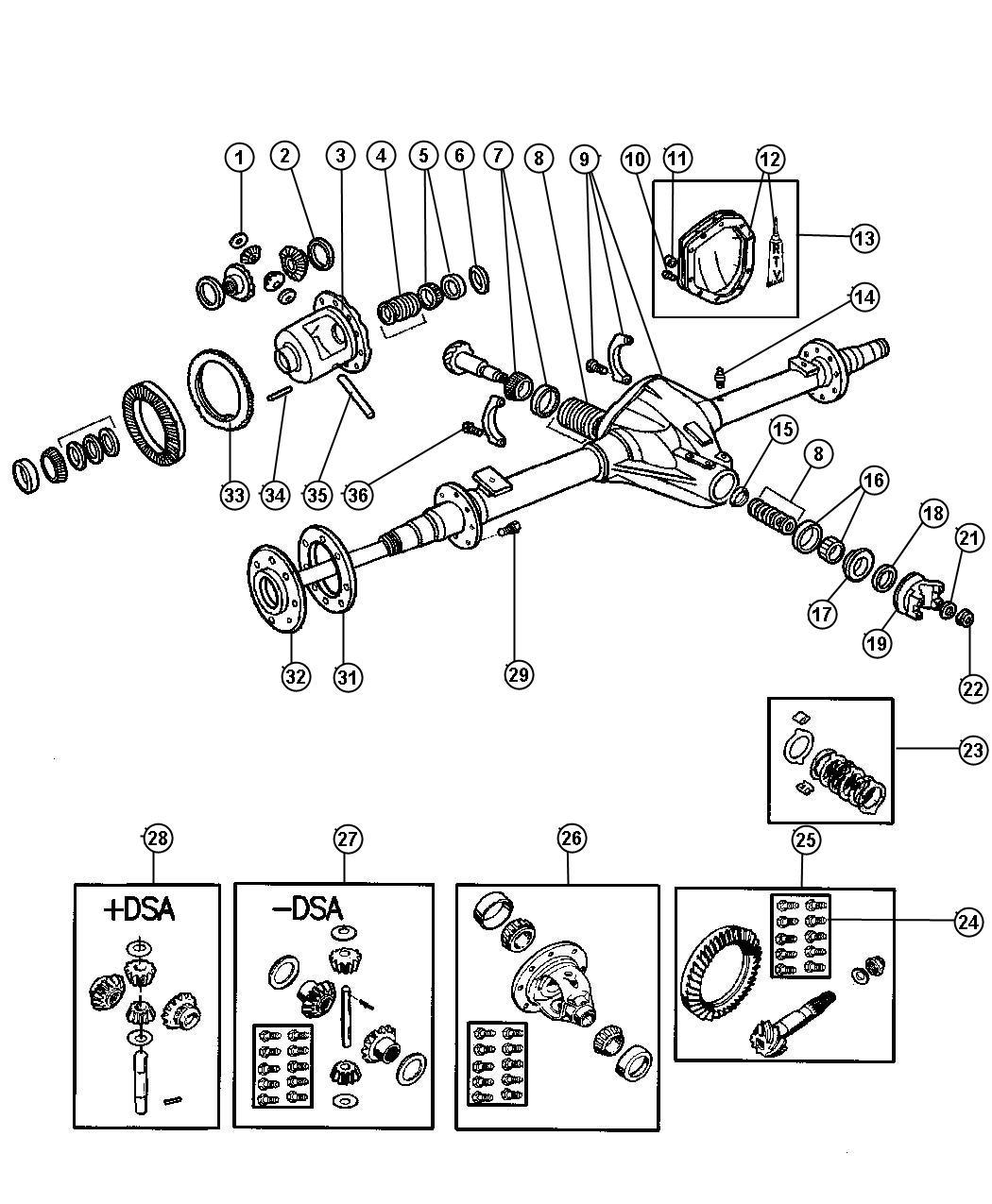 chrysler 2 7 axle diagram