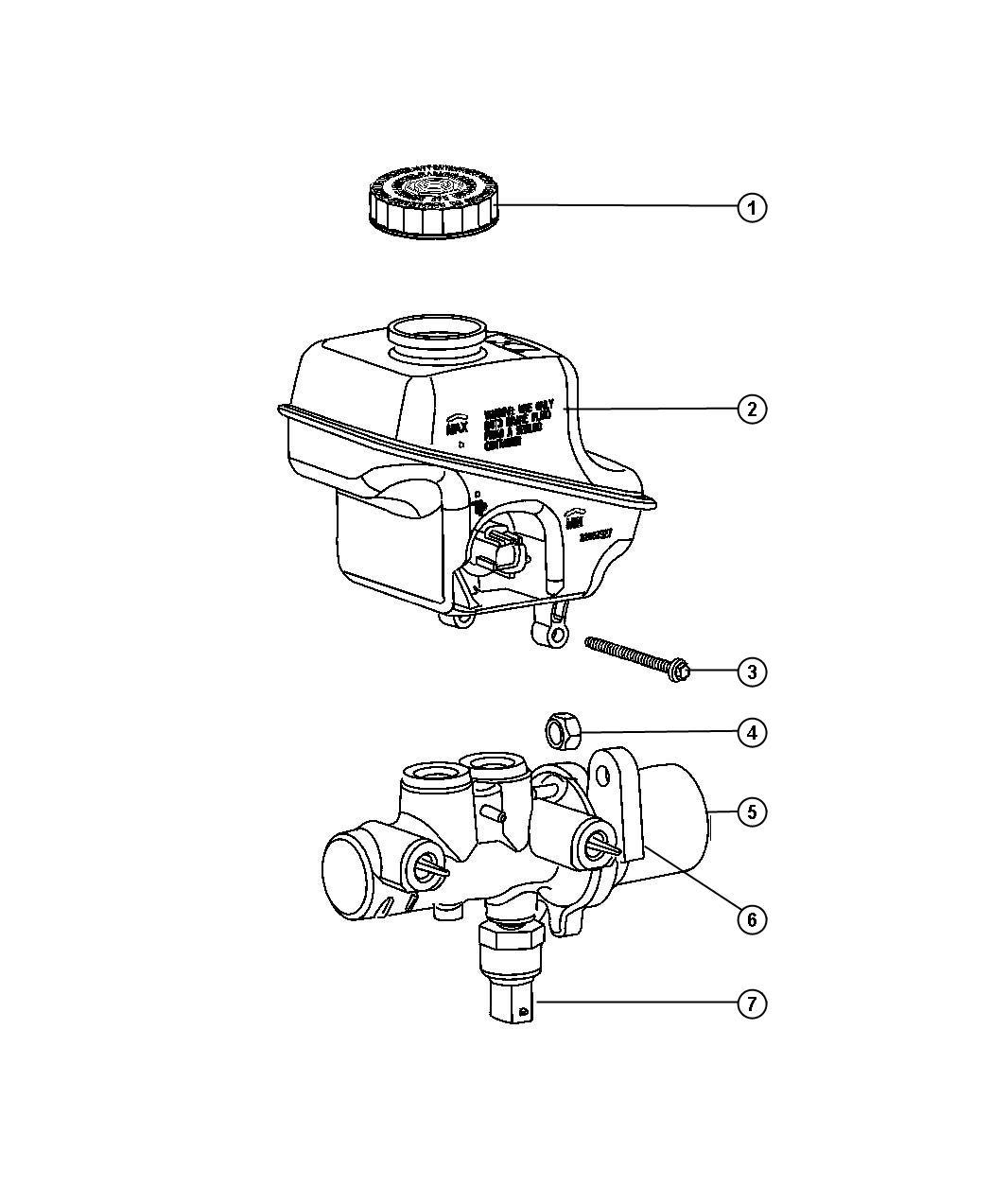 Chrysler 300 Master Cylinder  Brake