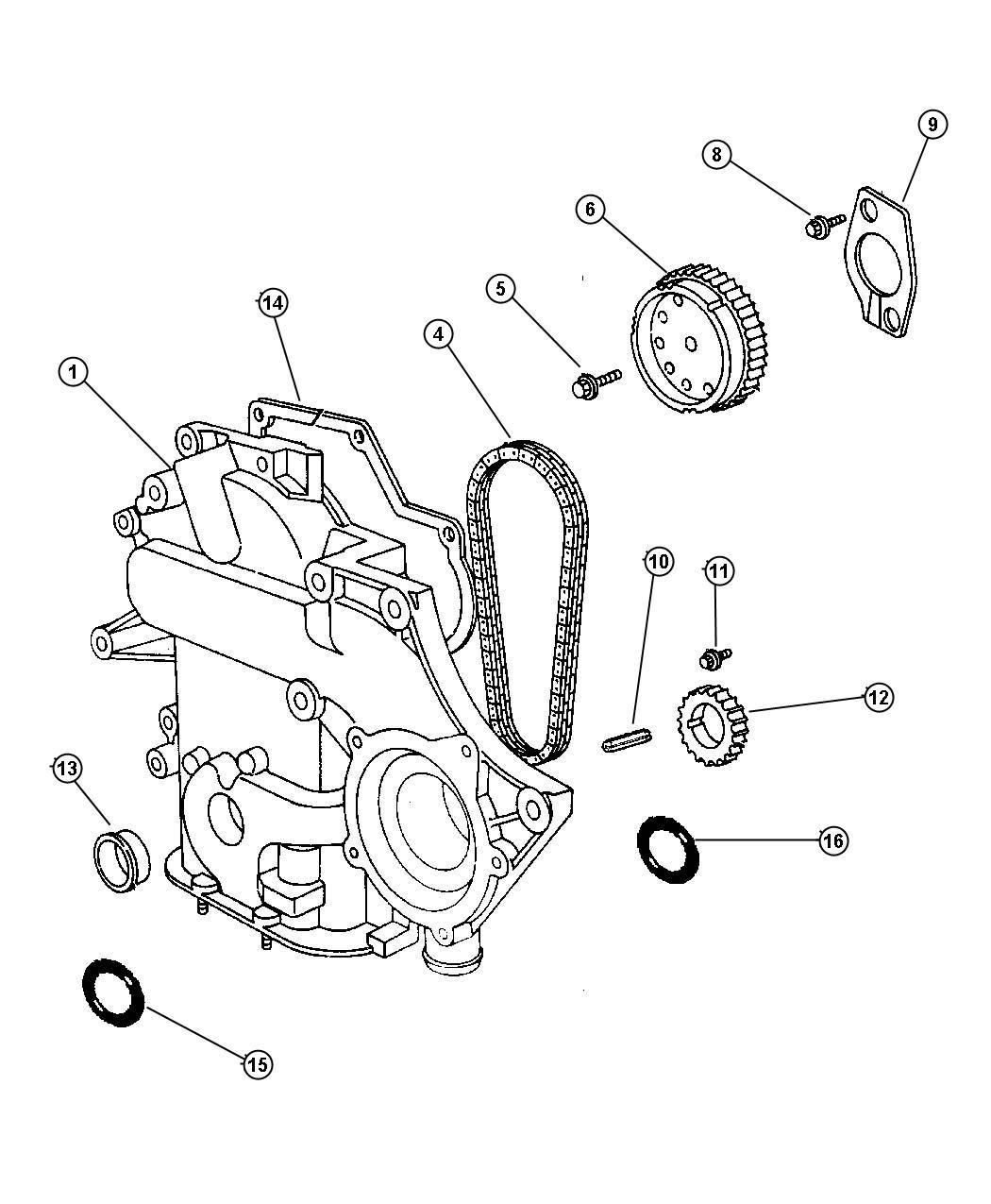 2007 Chrysler Pacifica Limited 4 0l V6 Gasket  Timing Case