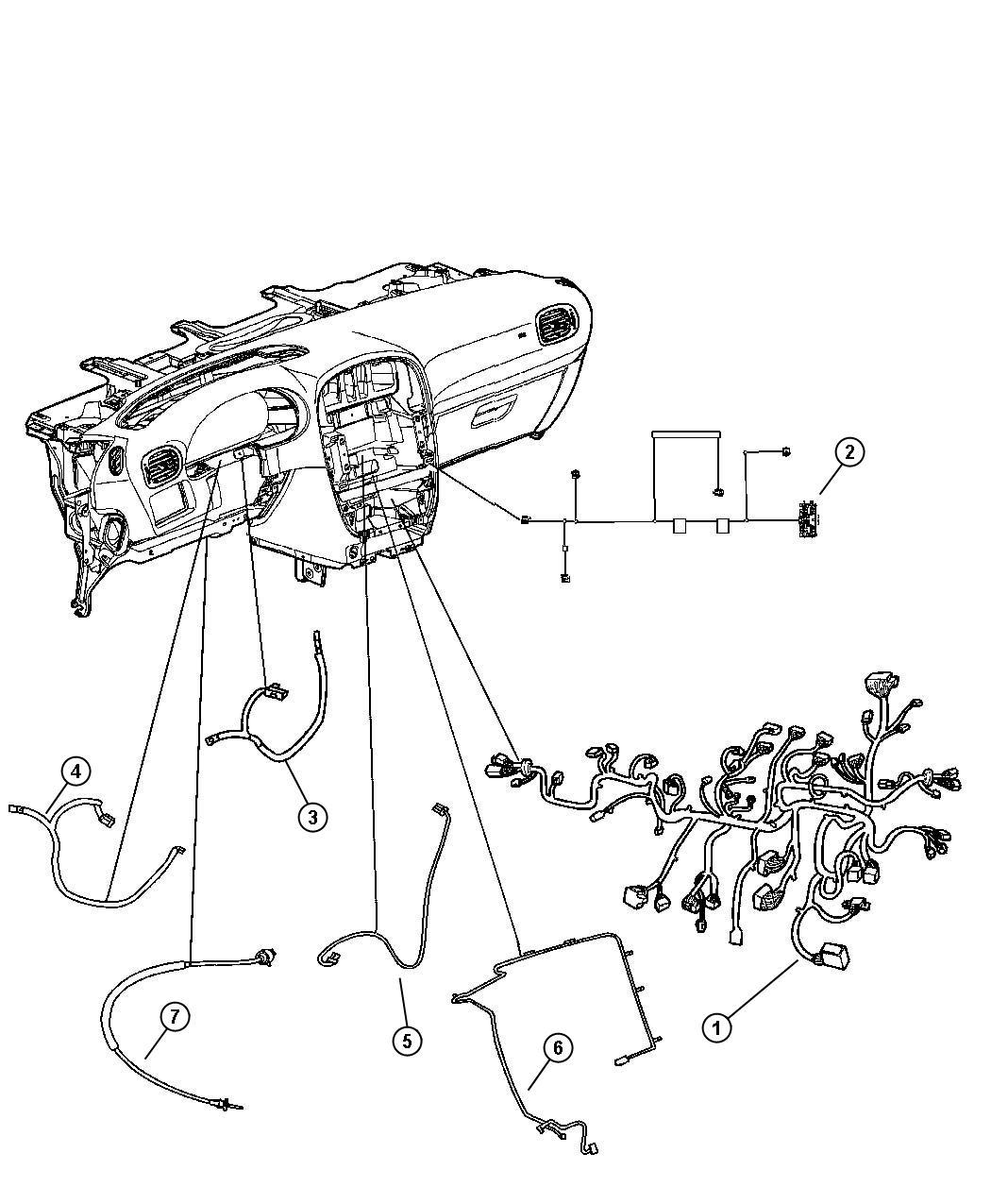 04869093AD - Chrysler Wiring. Instrument panel | Mopar ...