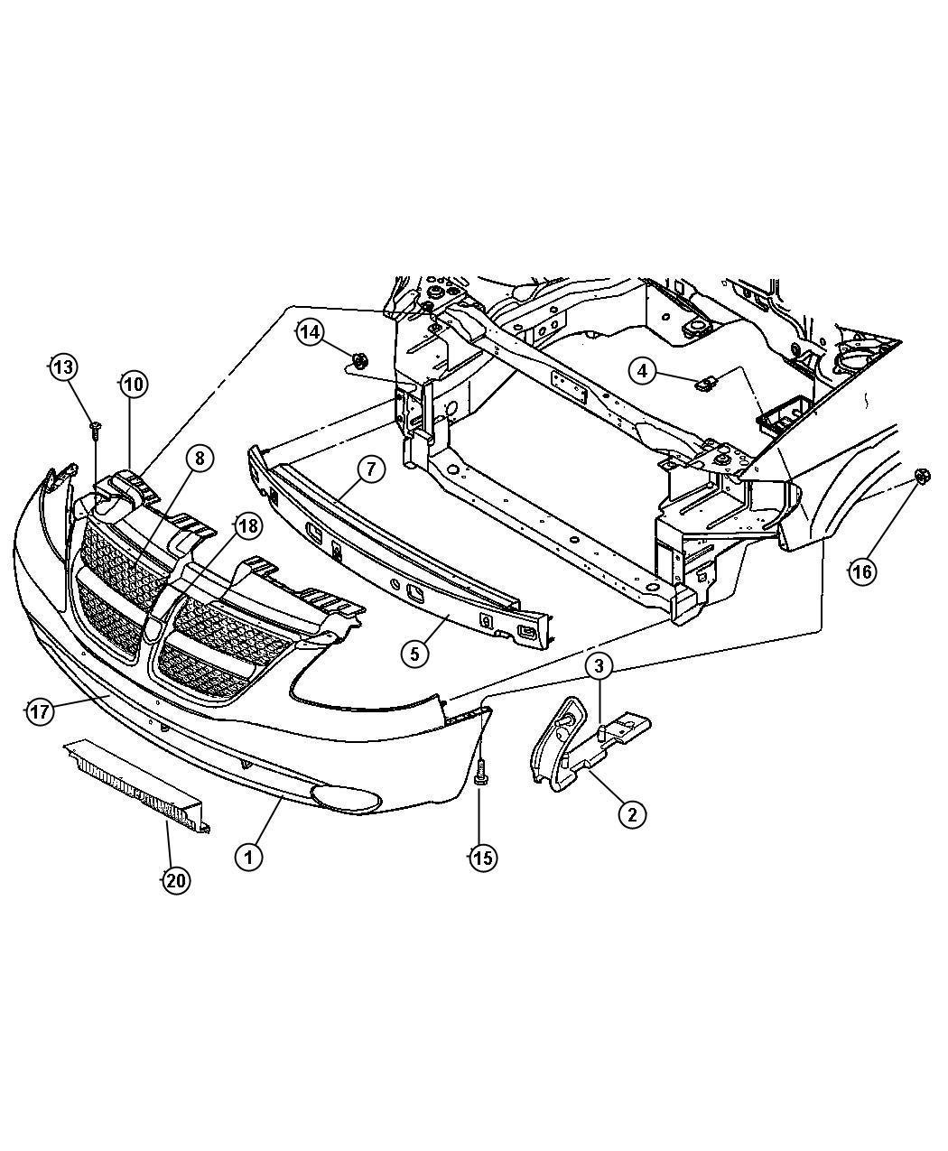 2007 Dodge Grand Caravan Fascia Front Primed Lamps Fog Wiring Diagram