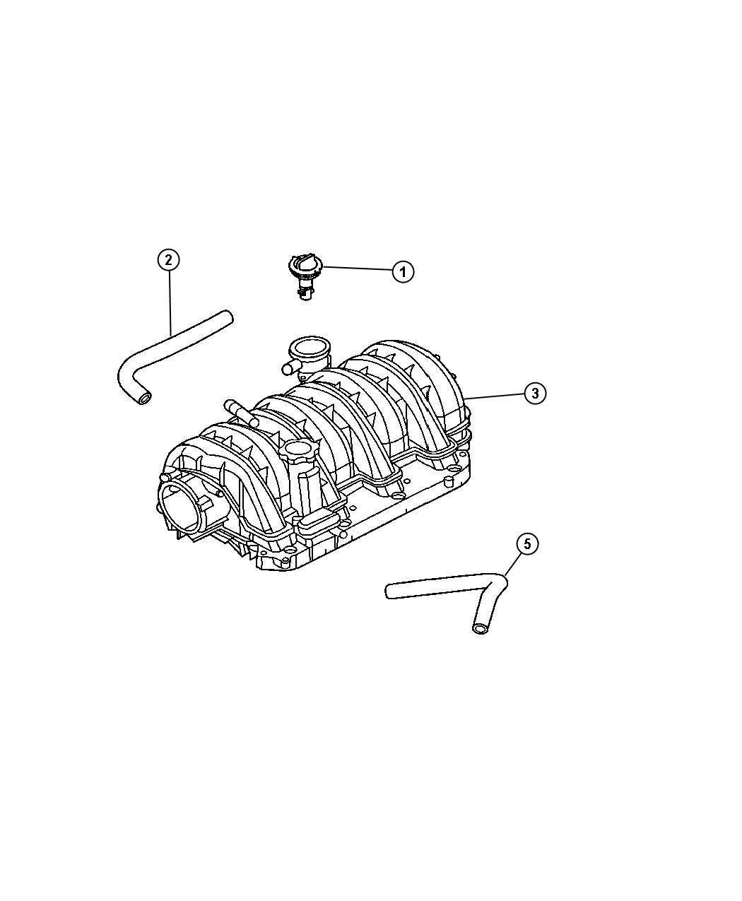 2005 Chrysler 300 Hose  Cylinder Head To Intake Manifold