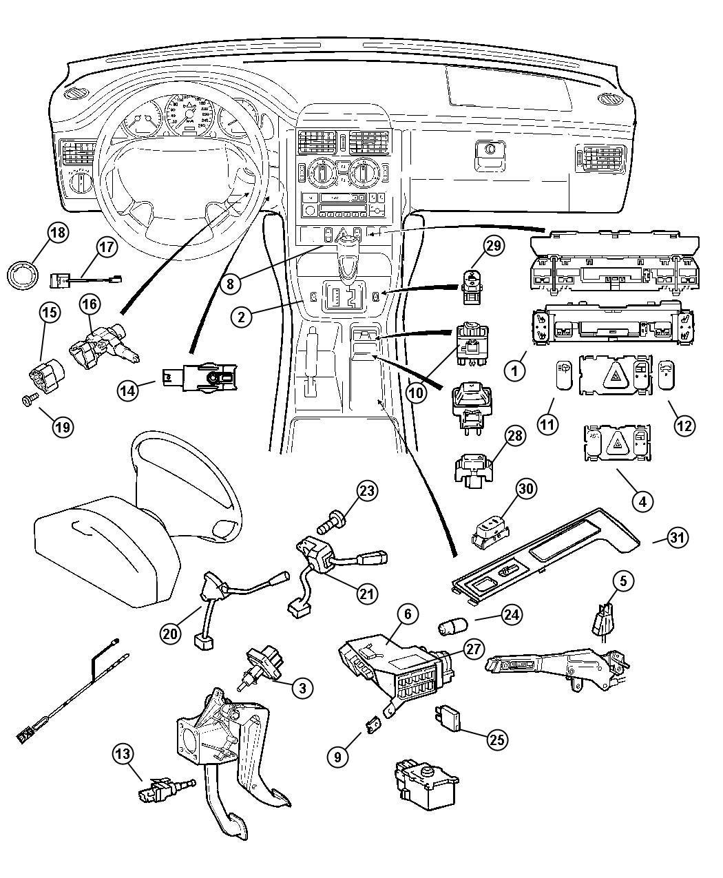 68001655aa dodge housing ignition switch mopar parts. Black Bedroom Furniture Sets. Home Design Ideas