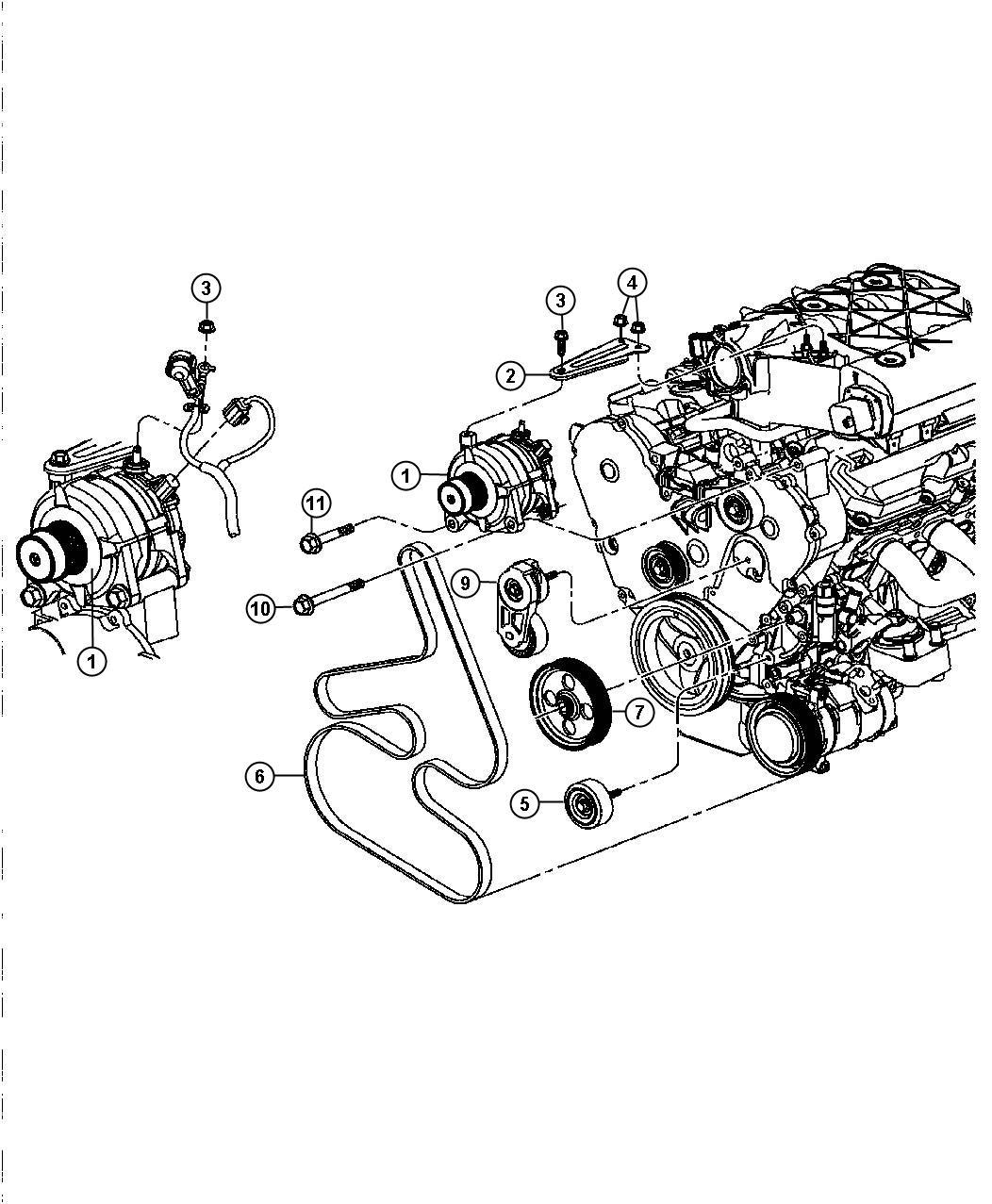2005 chrysler generator engine alternator 160 amp. Black Bedroom Furniture Sets. Home Design Ideas